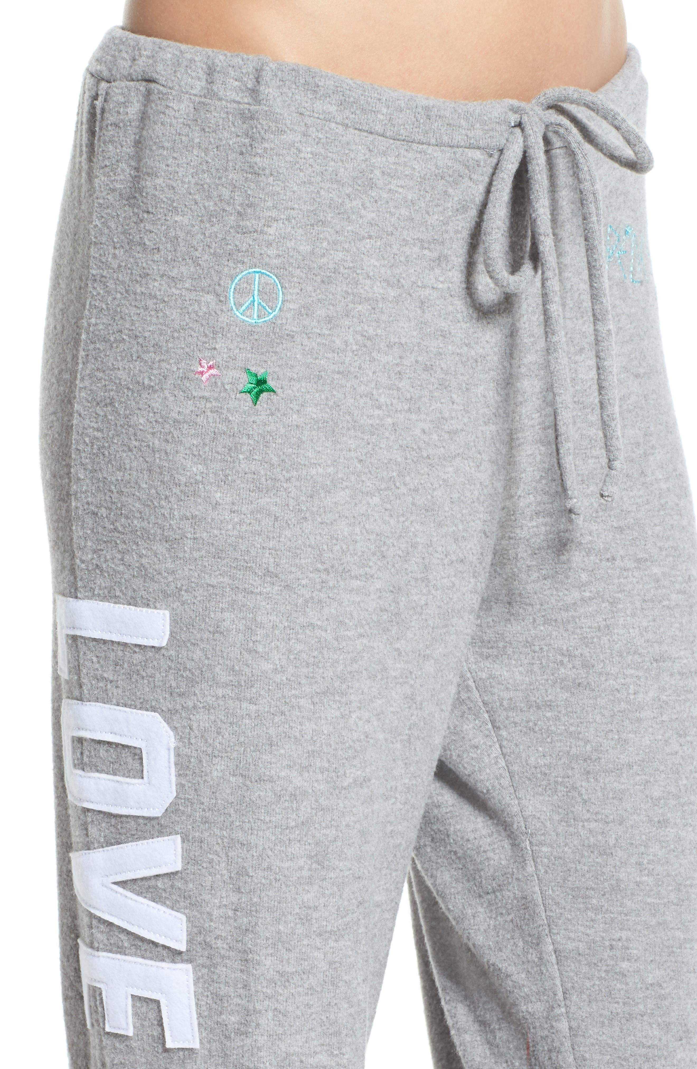 Patched Up Lounge Sweatpants,                             Alternate thumbnail 4, color,                             Heather Grey