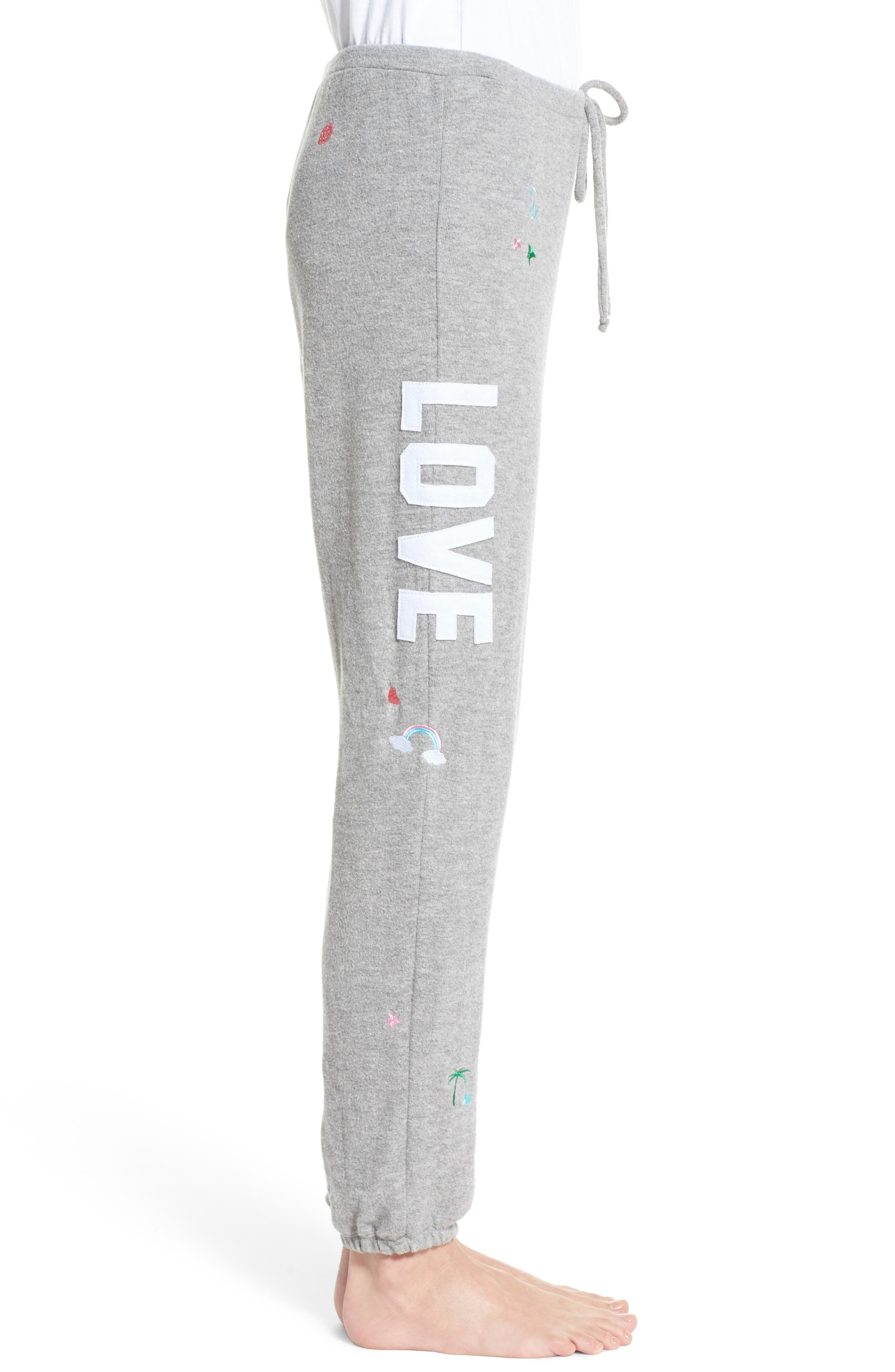 Patched Up Lounge Sweatpants,                             Alternate thumbnail 3, color,                             Heather Grey