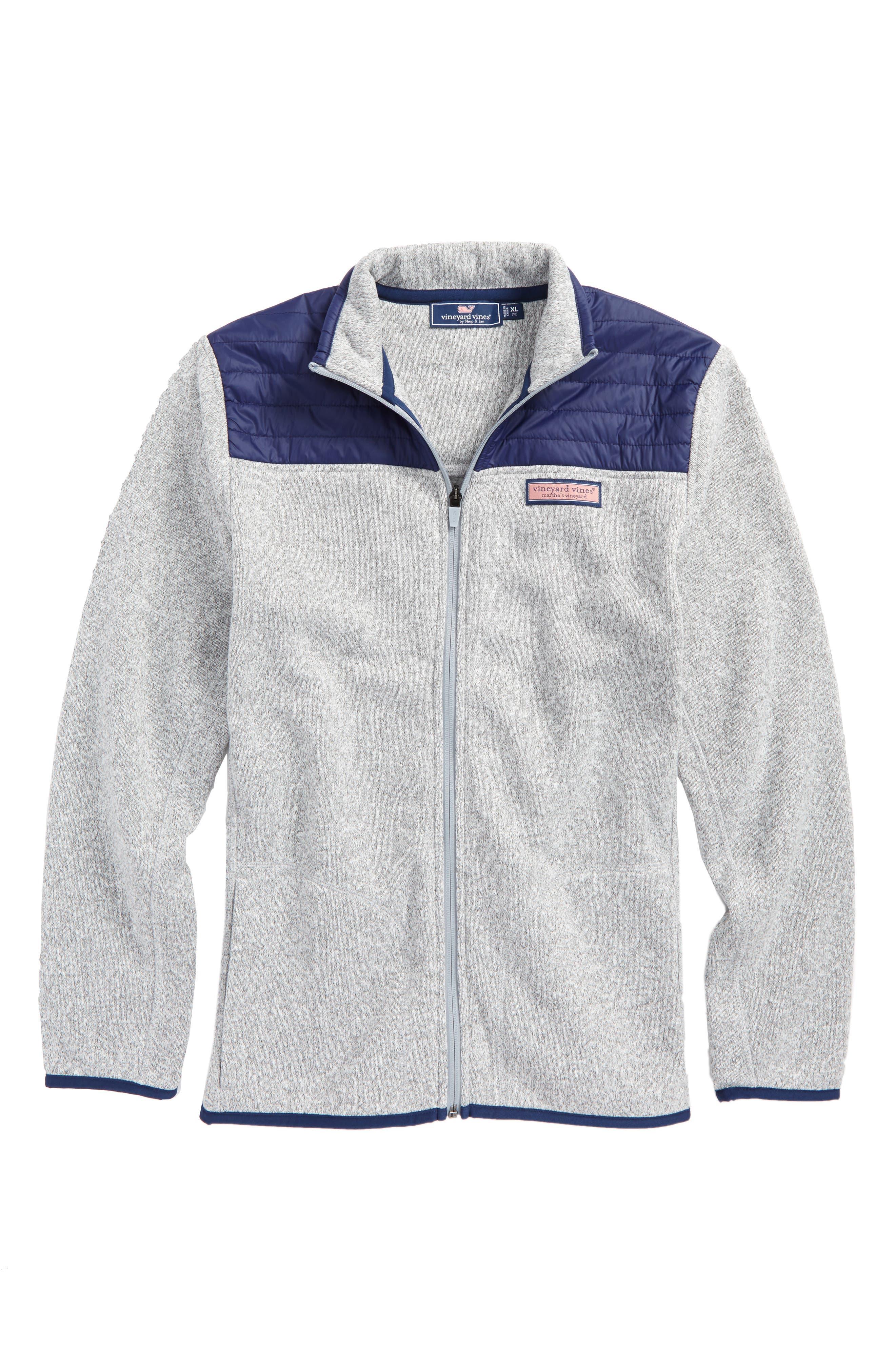 Full Zip Fleece Jacket,                         Main,                         color, Gray Heather