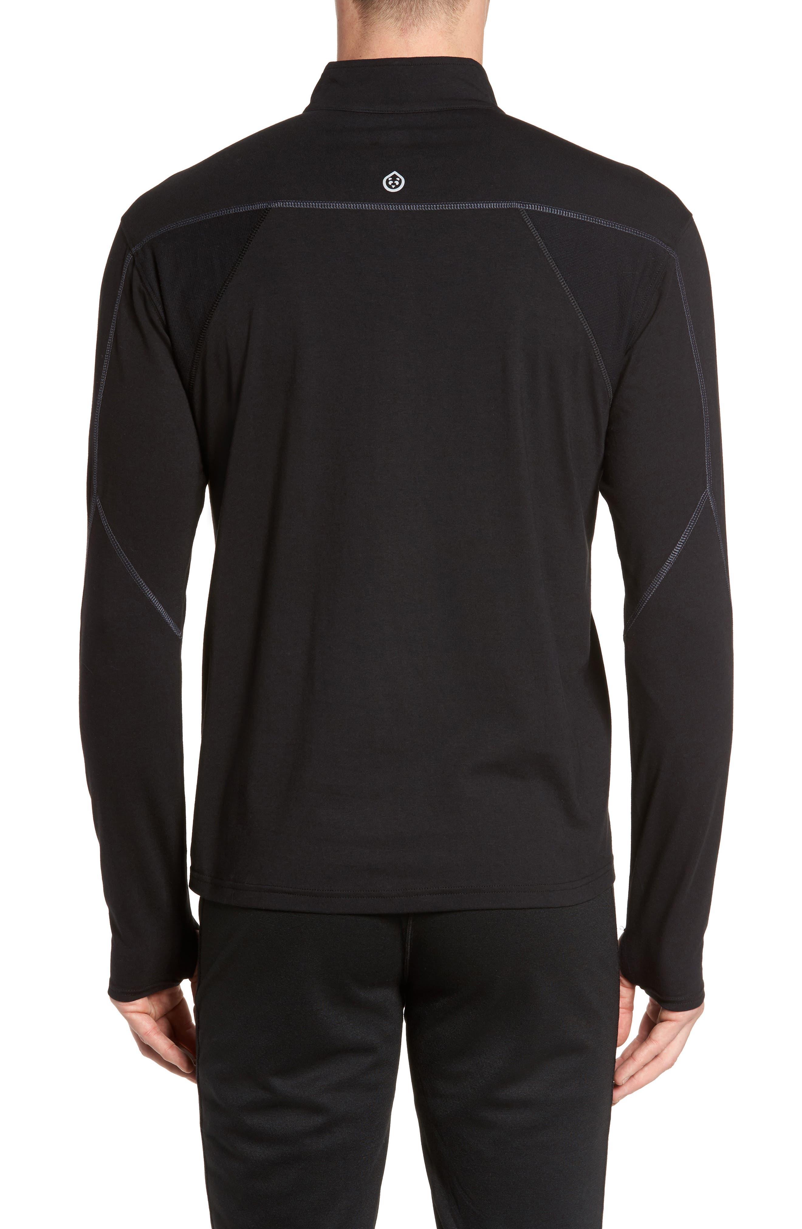Charge Quarter-Zip Pullover,                             Alternate thumbnail 2, color,                             Black/ Gunmetal
