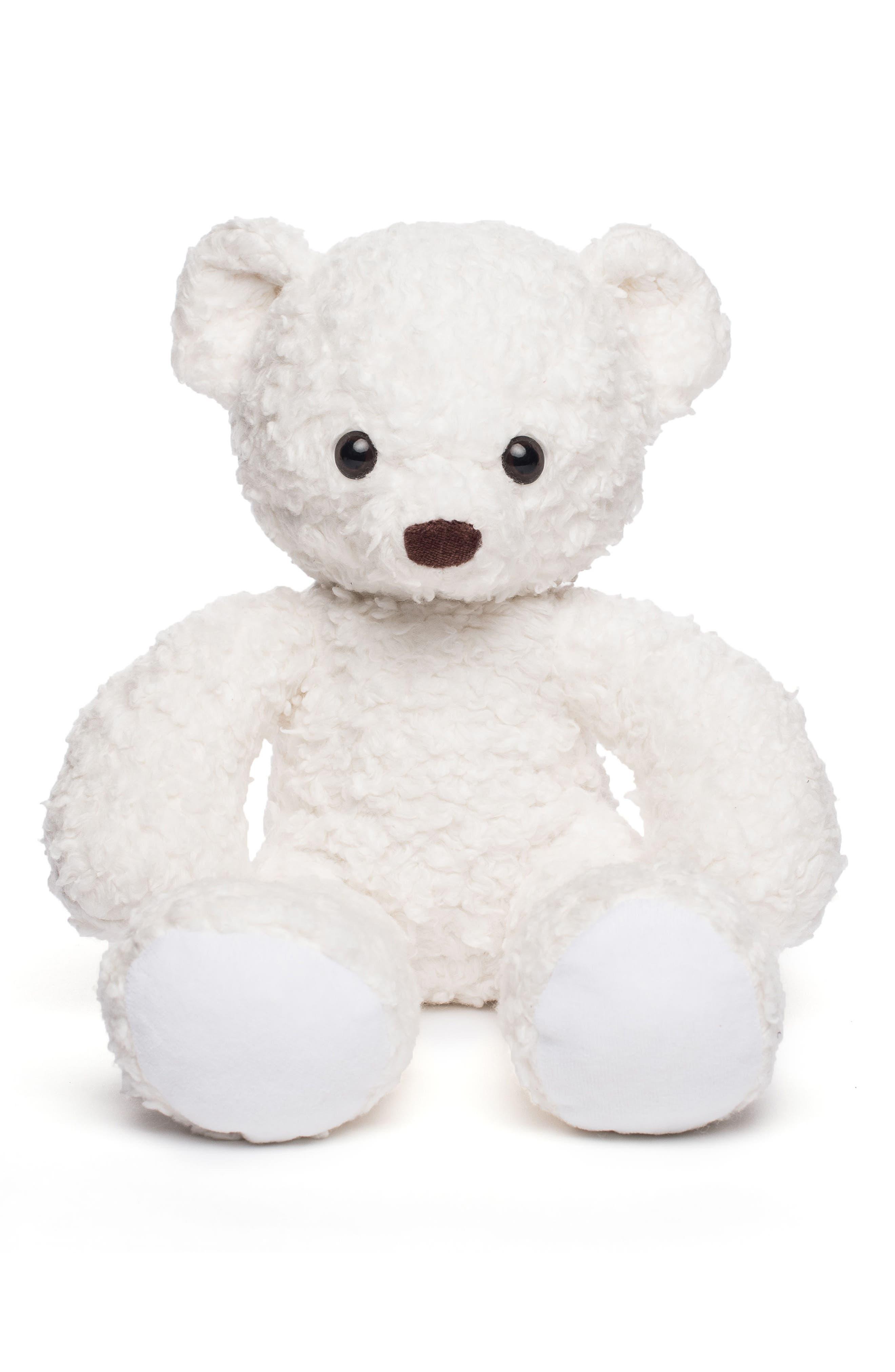 Medium Stuffed Bear,                         Main,                         color, White