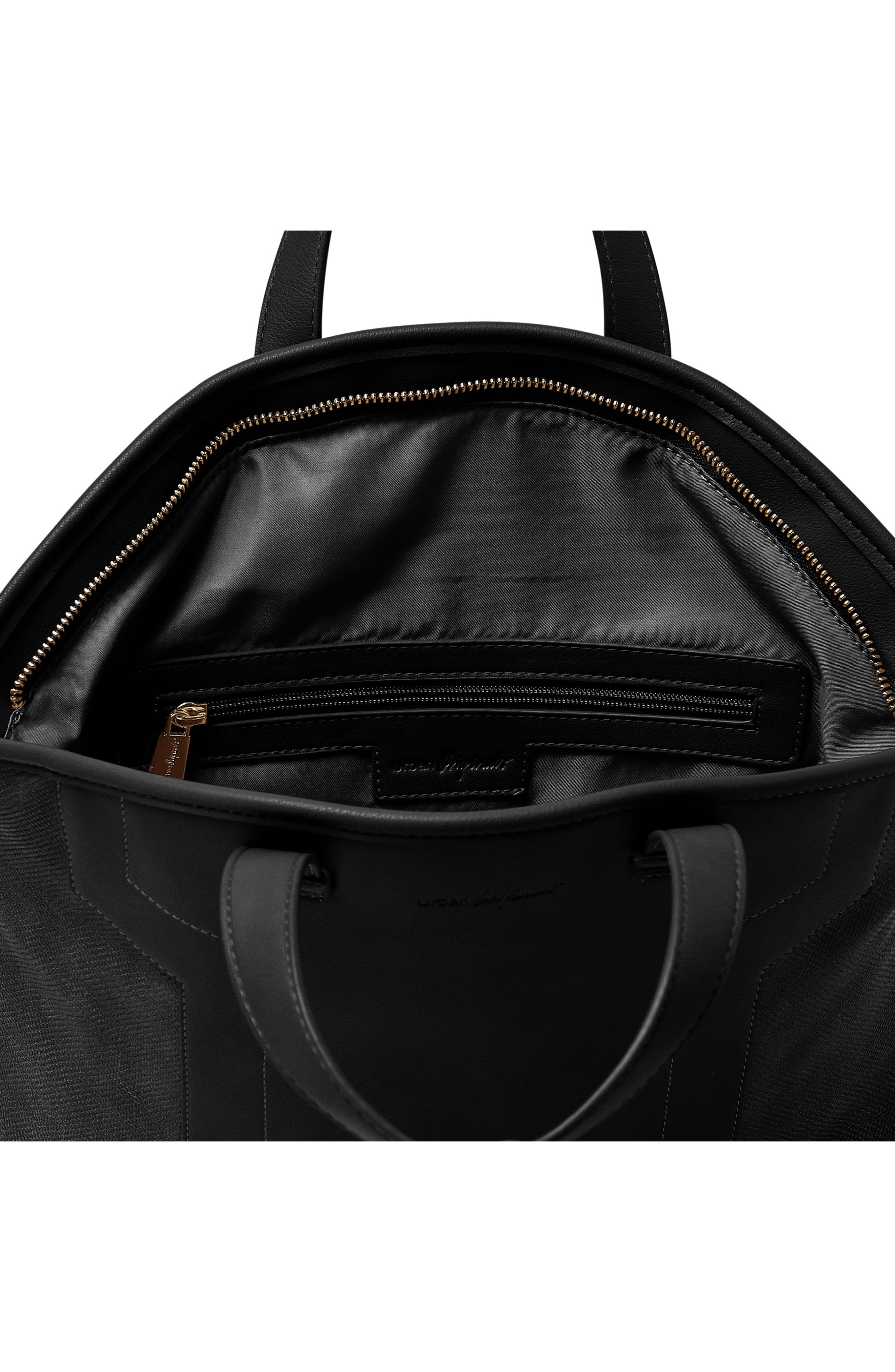 Alternate Image 3  - Urban Originals Break Away Vegan Leather Tote