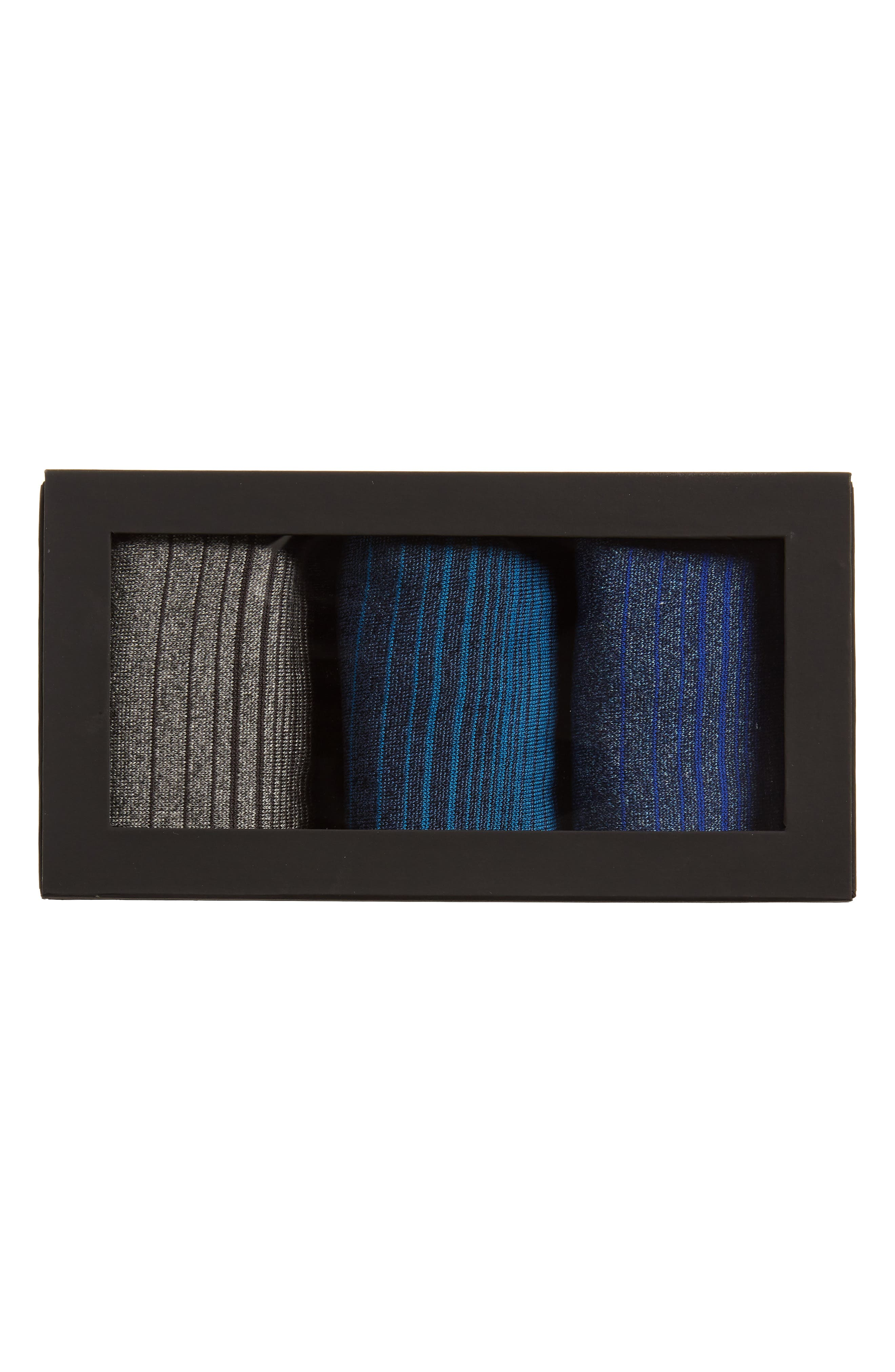 Alternate Image 2  - Bugatchi 3-Pack Stripe Cotton & Cashmere Blend Socks ($59.85 Value)