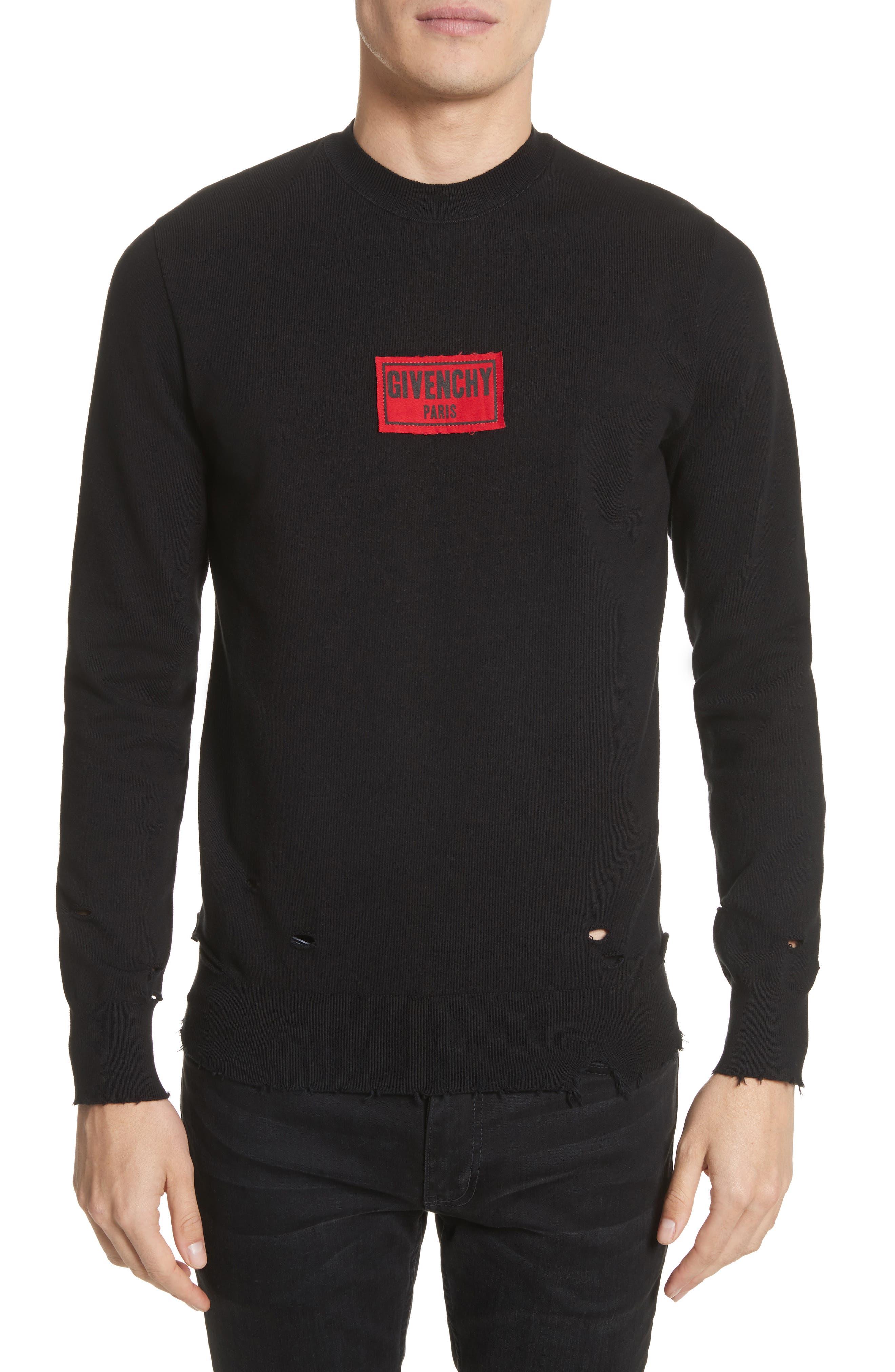 Boxing Logo Sweatshirt,                         Main,                         color, Black