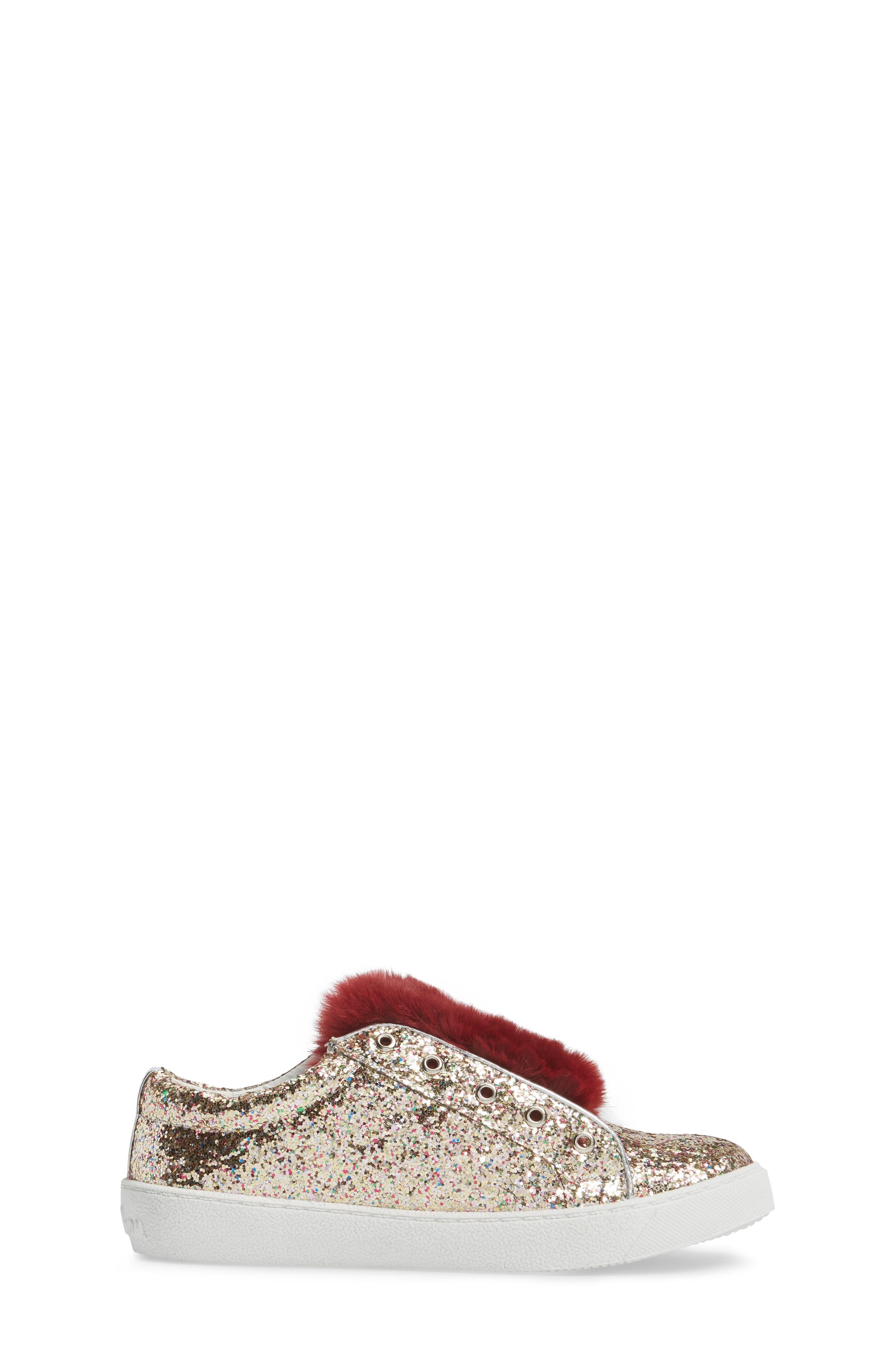 Alternate Image 3  - Sam Edelman Britt Rita Faux Fur Glitter Sneaker (Toddler, Little Kid & Big Kid)