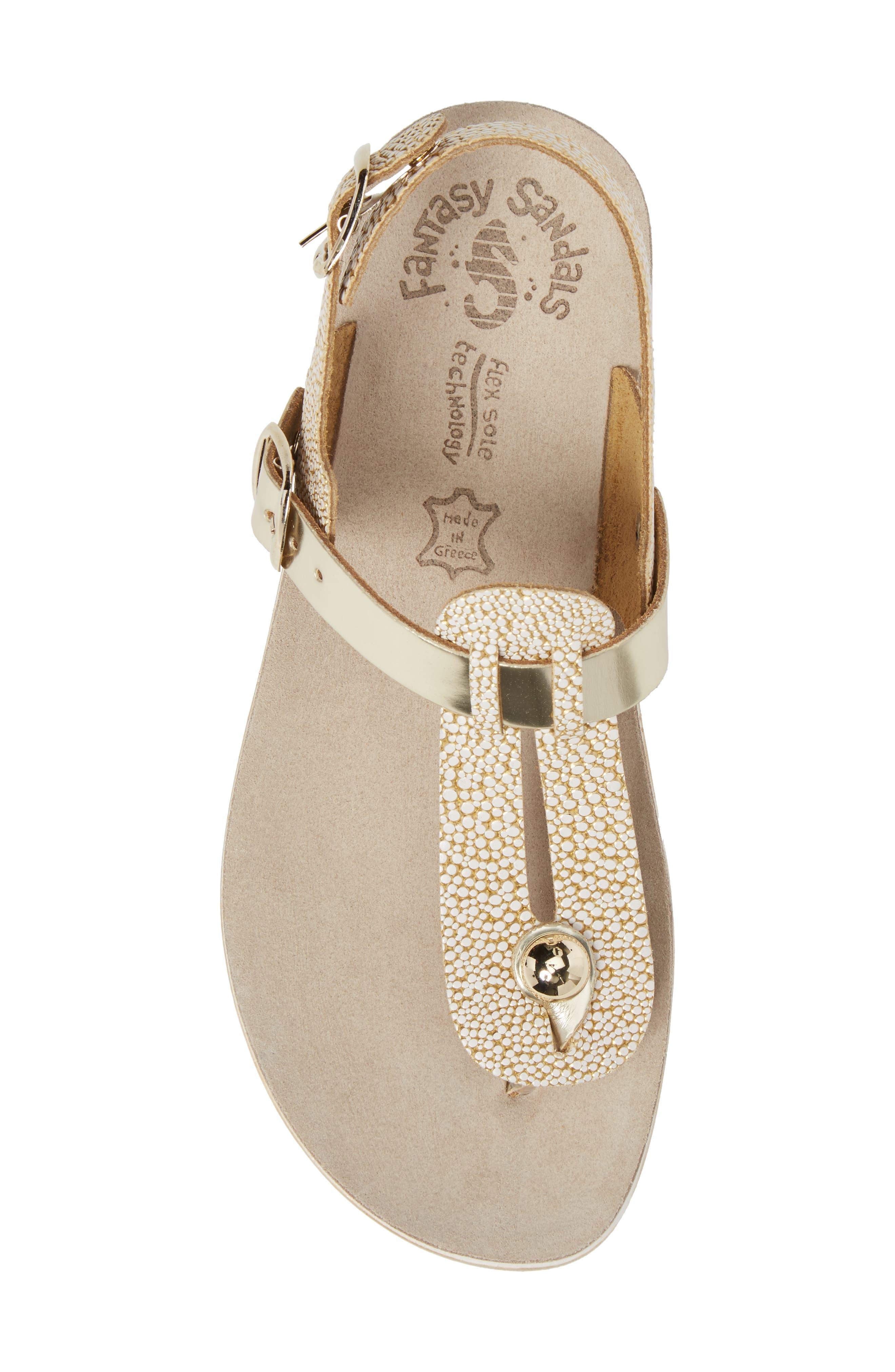 Marlena Fantasy Sandal,                             Alternate thumbnail 5, color,                             Gold Caviar Leather