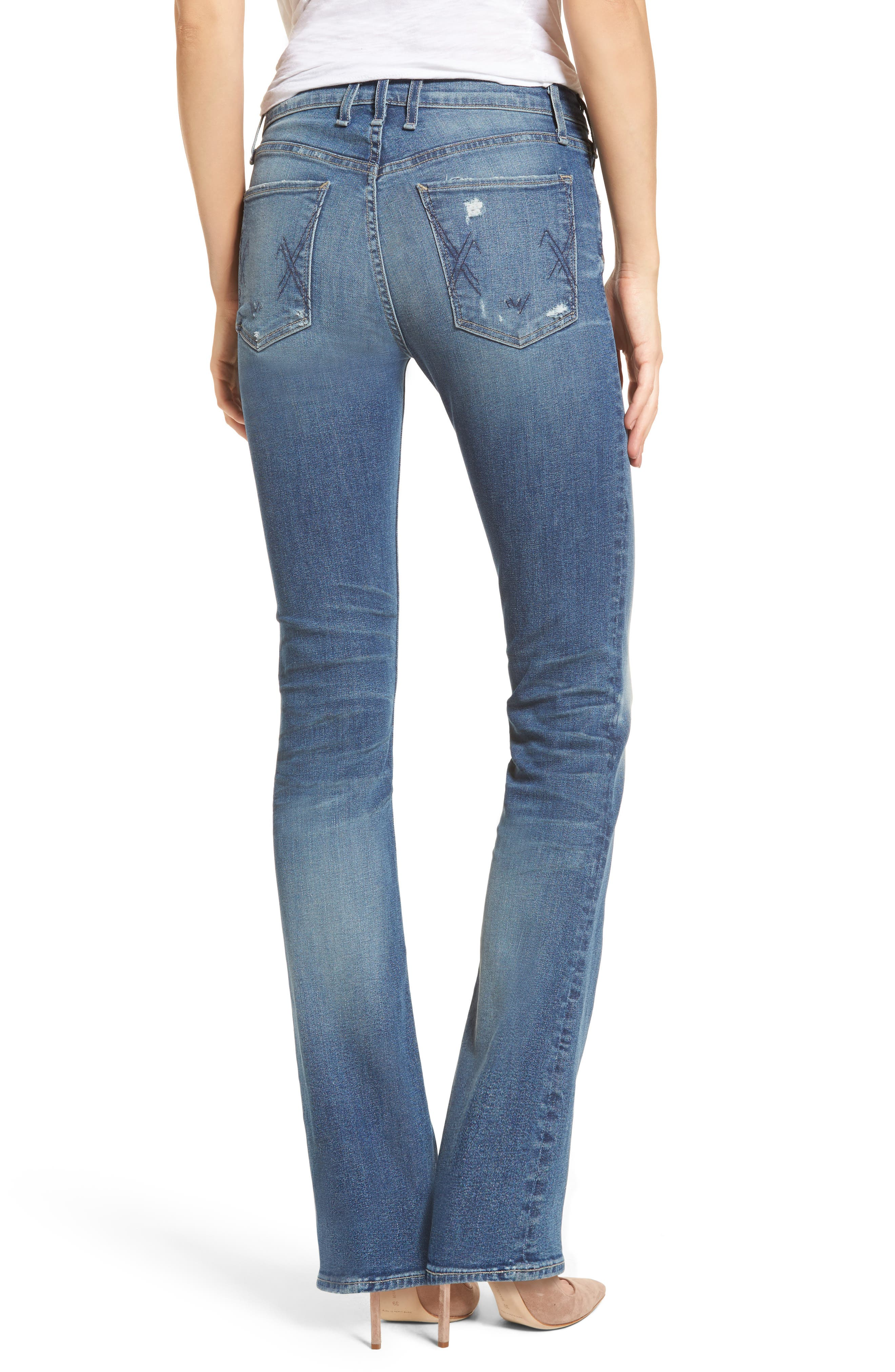 Gainsbourg High Waist Bootcut Jeans,                             Alternate thumbnail 2, color,                             Excuse Me Sir