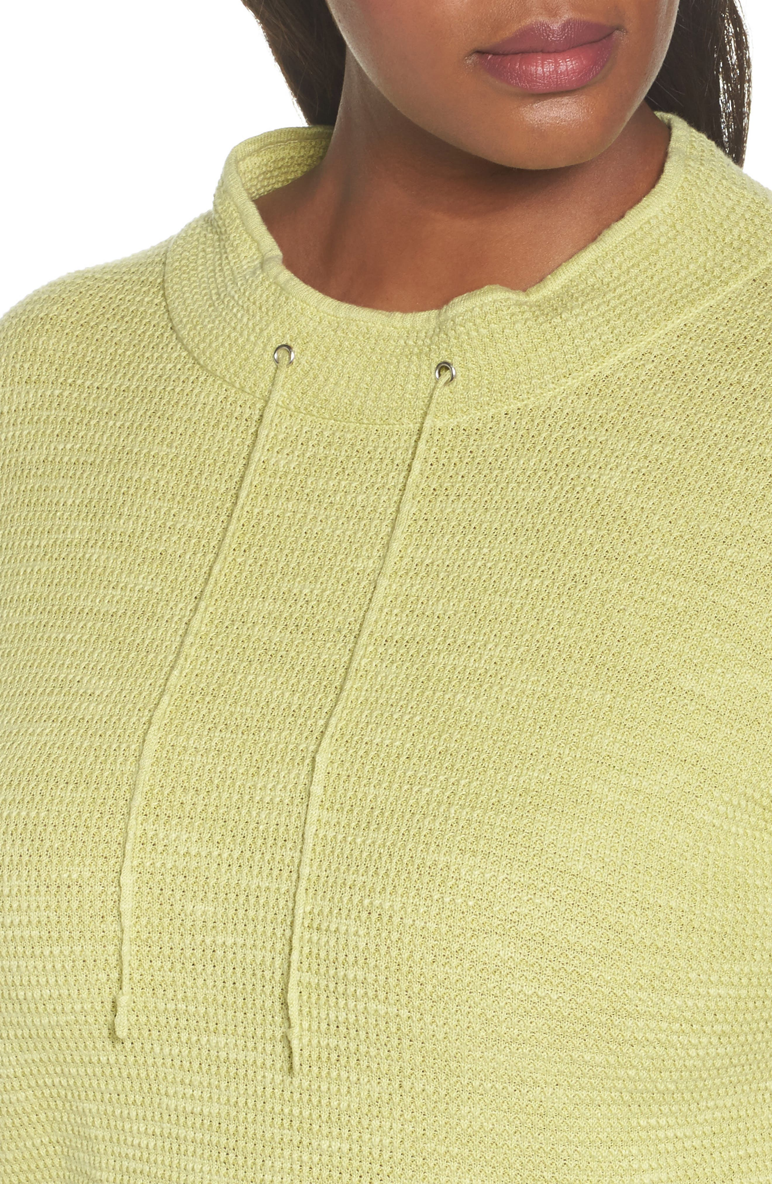 Alternate Image 4  - Eileen Fisher Drawstring Neck Organic Linen & Cotton Top (Plus Size)