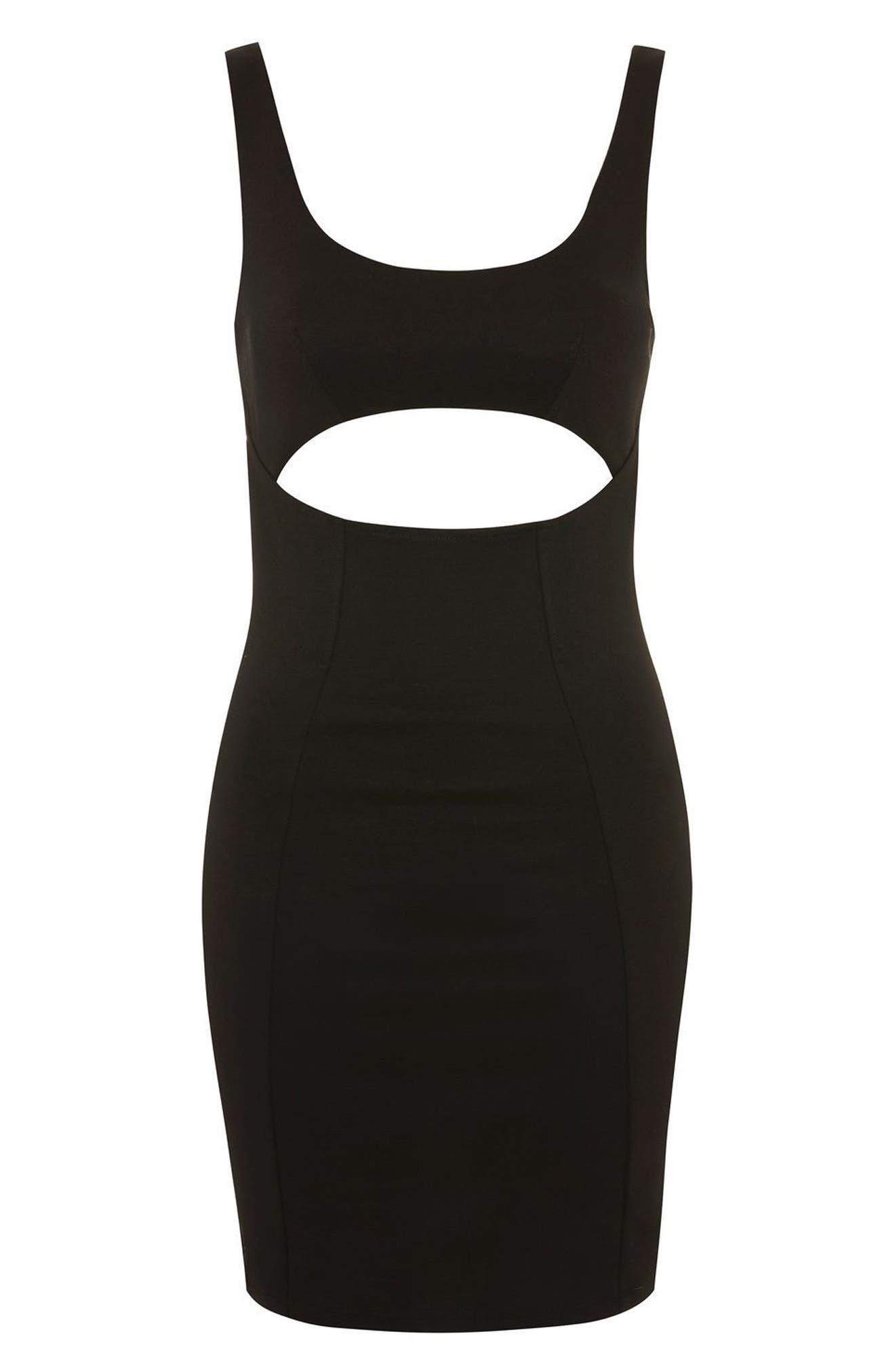 Alternate Image 4  - Topshop Cutout Body-Con Minidress