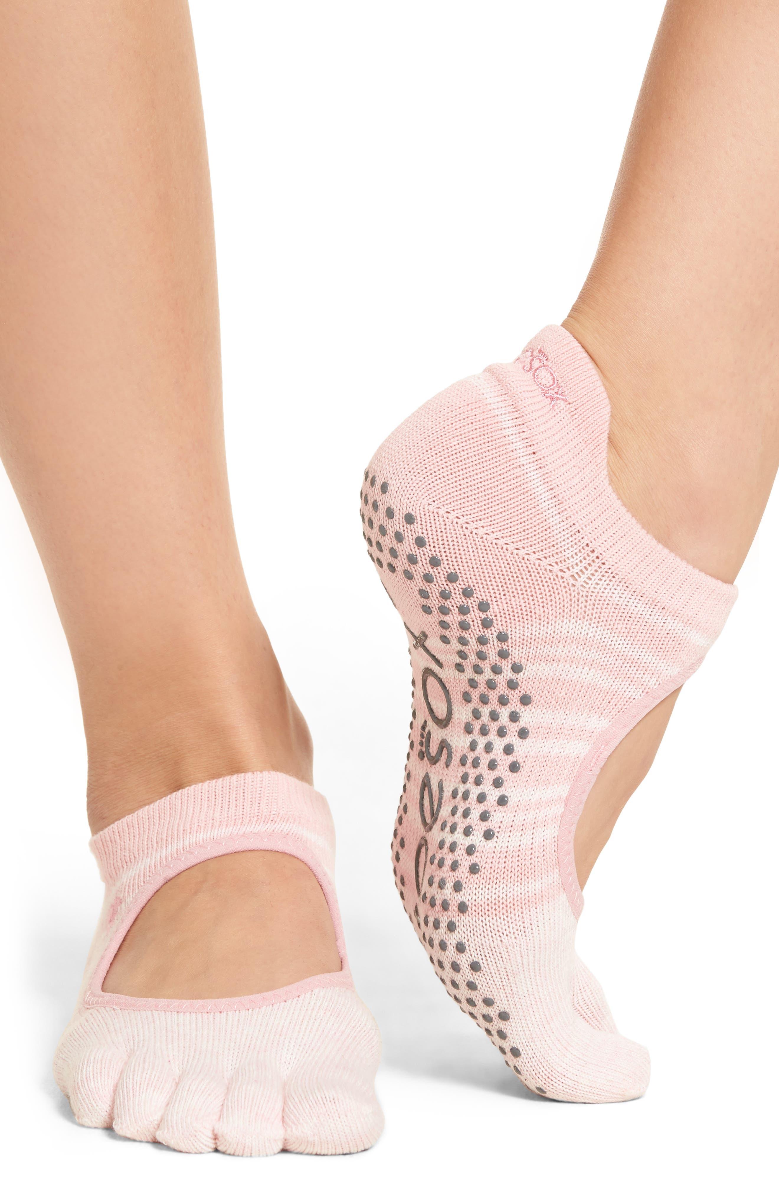 Alternate Image 2  - ToeSox Bellarina Full Toe Gripper Socks