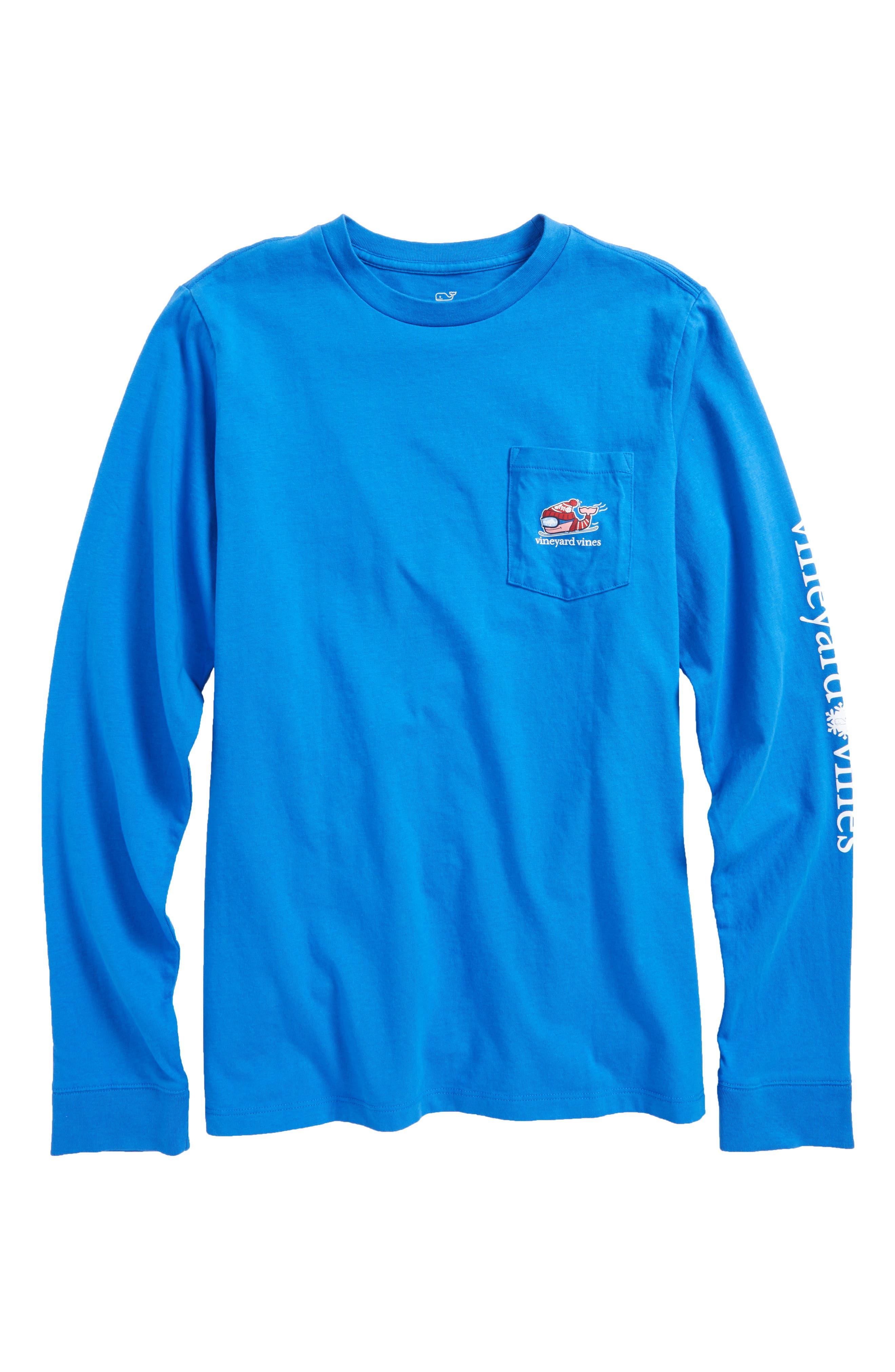 vineyard vines Downhill Ski Whale Pocket T-Shirt (Big Boys)