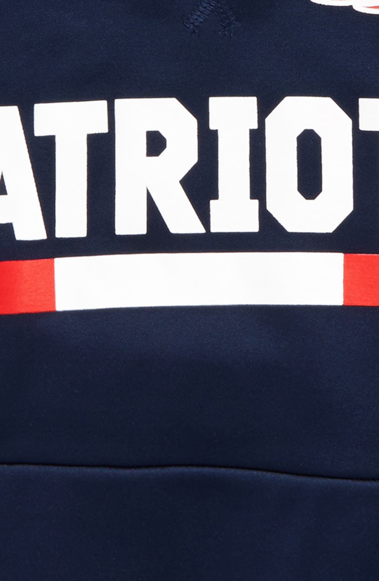 Nike Therma New England Patriots Hoodie,                             Alternate thumbnail 2, color,                             College Navy