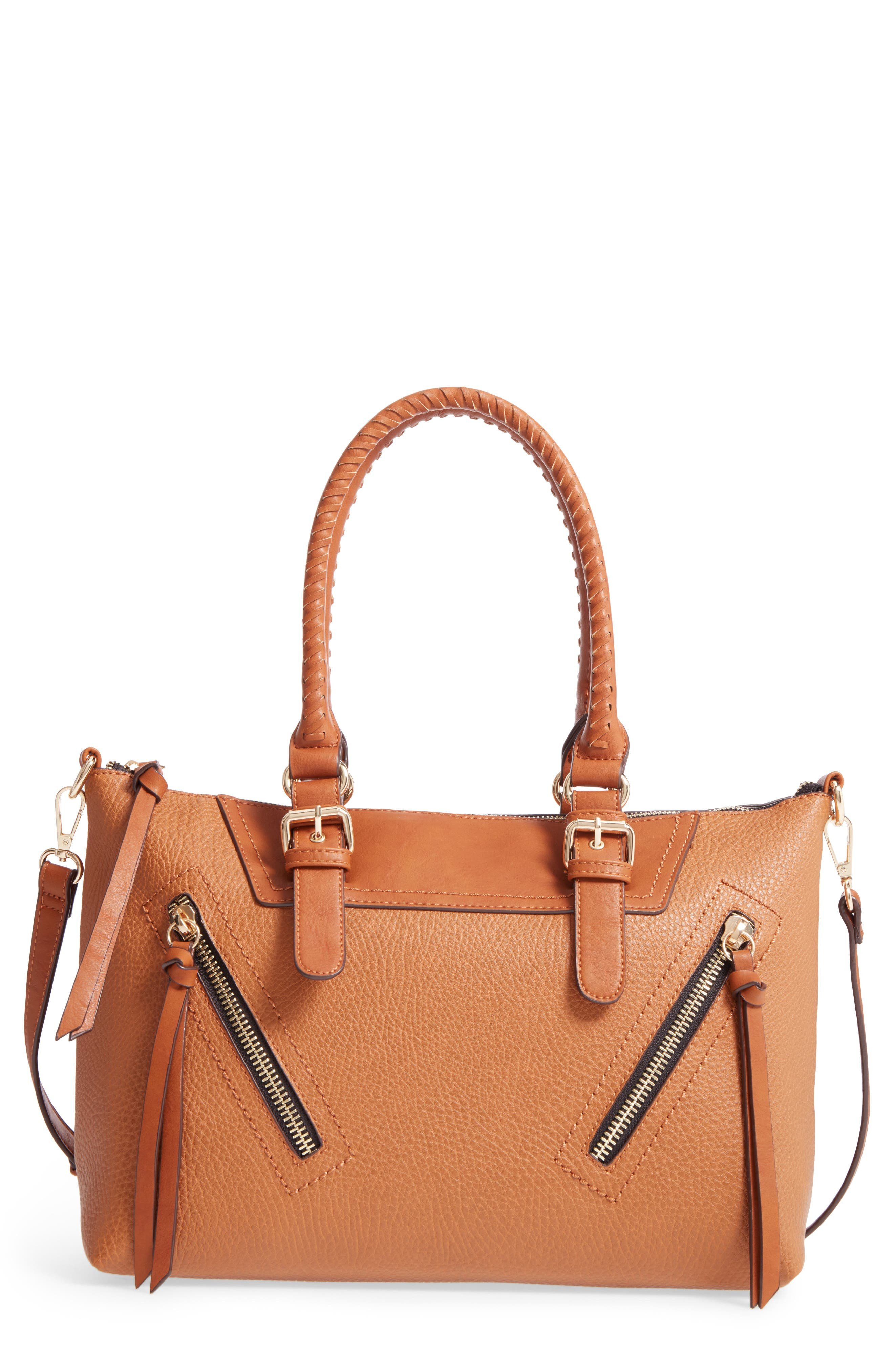 Main Image - Sole Society Girard Faux Leather Satchel