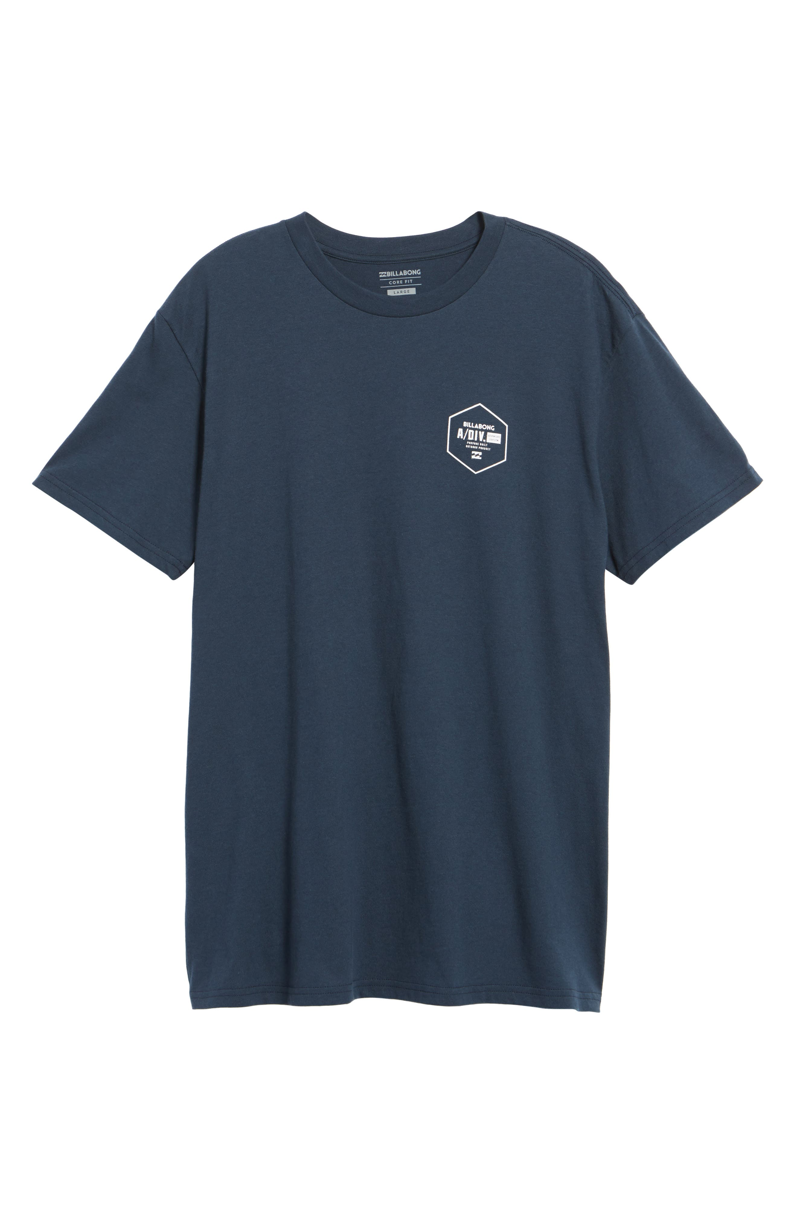 Storm Point Graphic T-Shirt,                             Alternate thumbnail 6, color,                             Navy