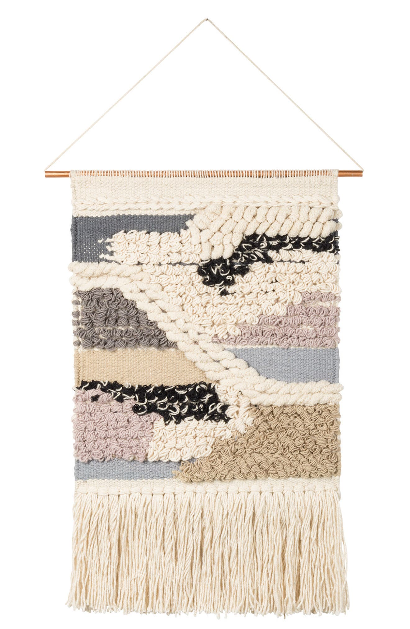 Nomad Woven Wall Hanging,                         Main,                         color, Ivory
