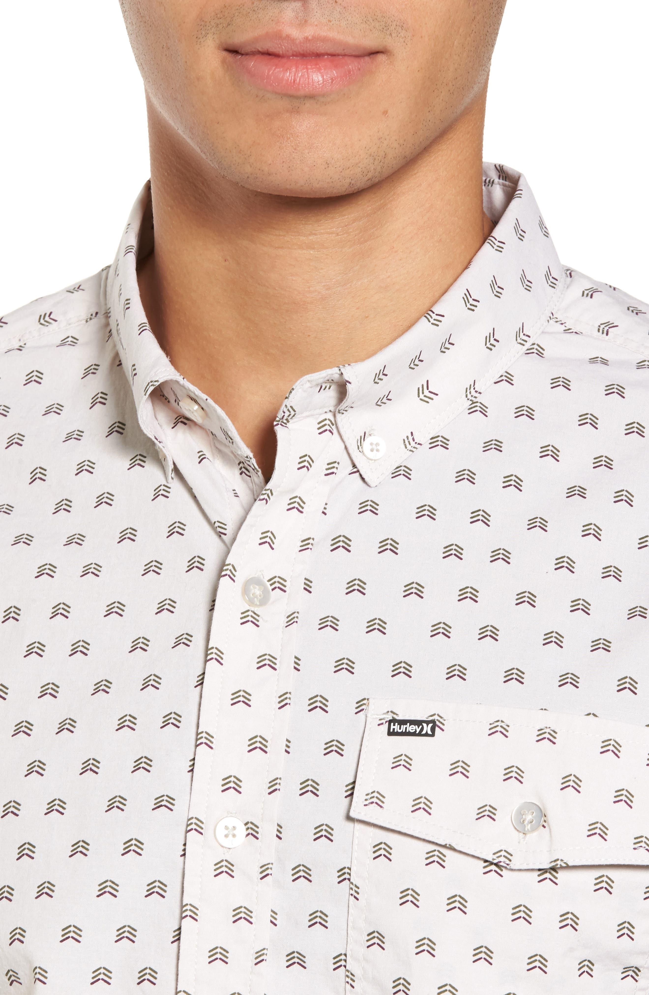 Brooks Woven Shirt,                             Alternate thumbnail 4, color,                             Light Orewood Brown