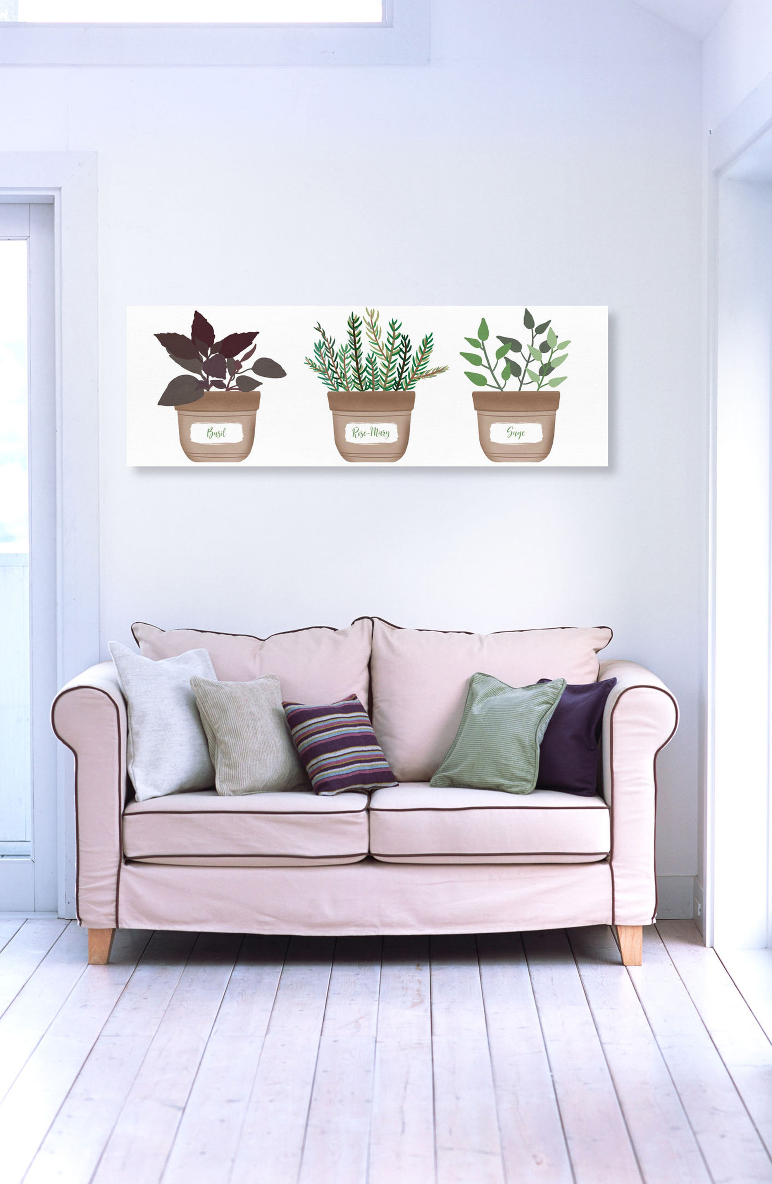 Herbs Canvas Wall Art,                             Alternate thumbnail 2, color,                             Green