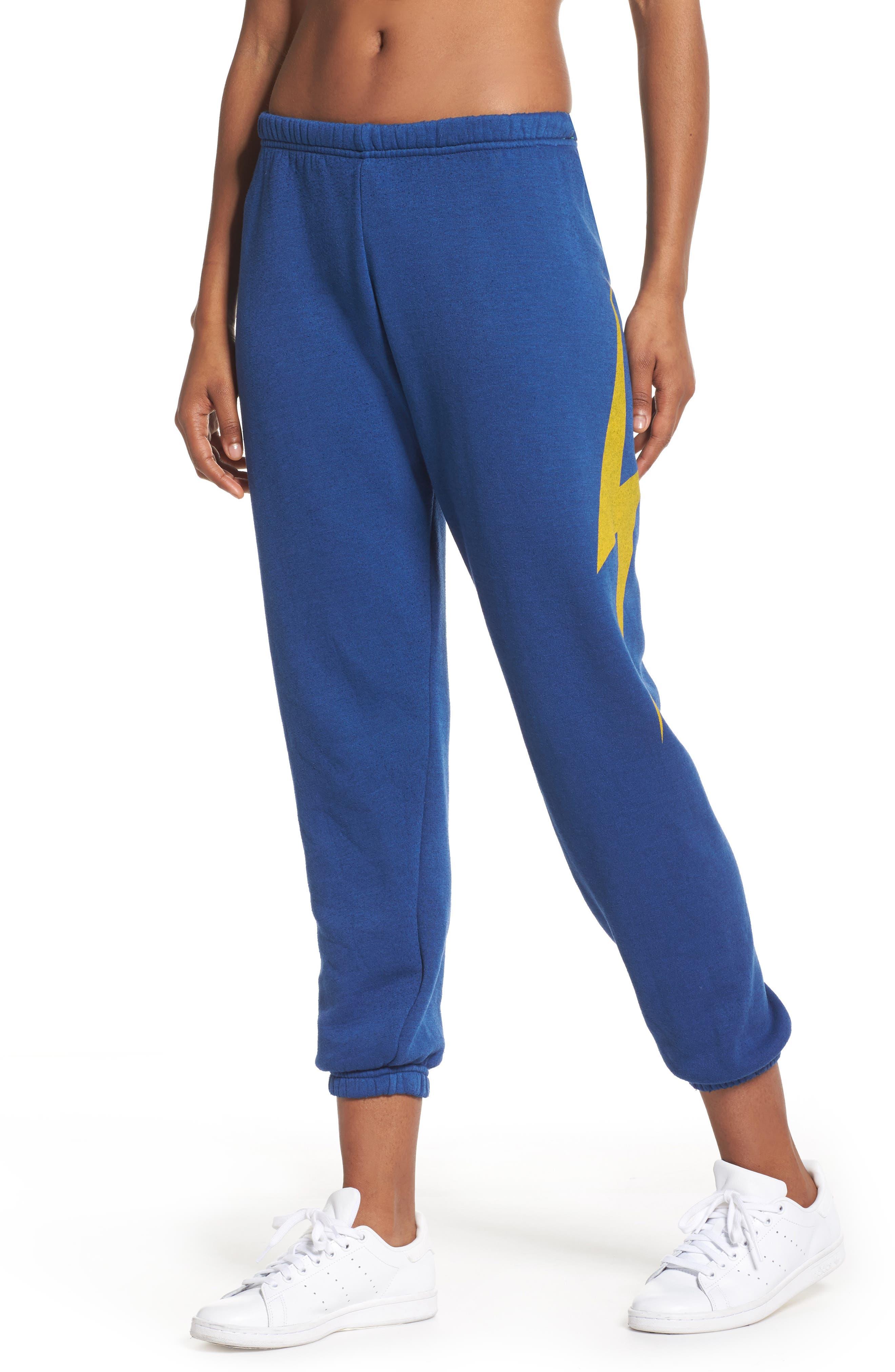 Bolt Sweatpants,                         Main,                         color, Royal Blue