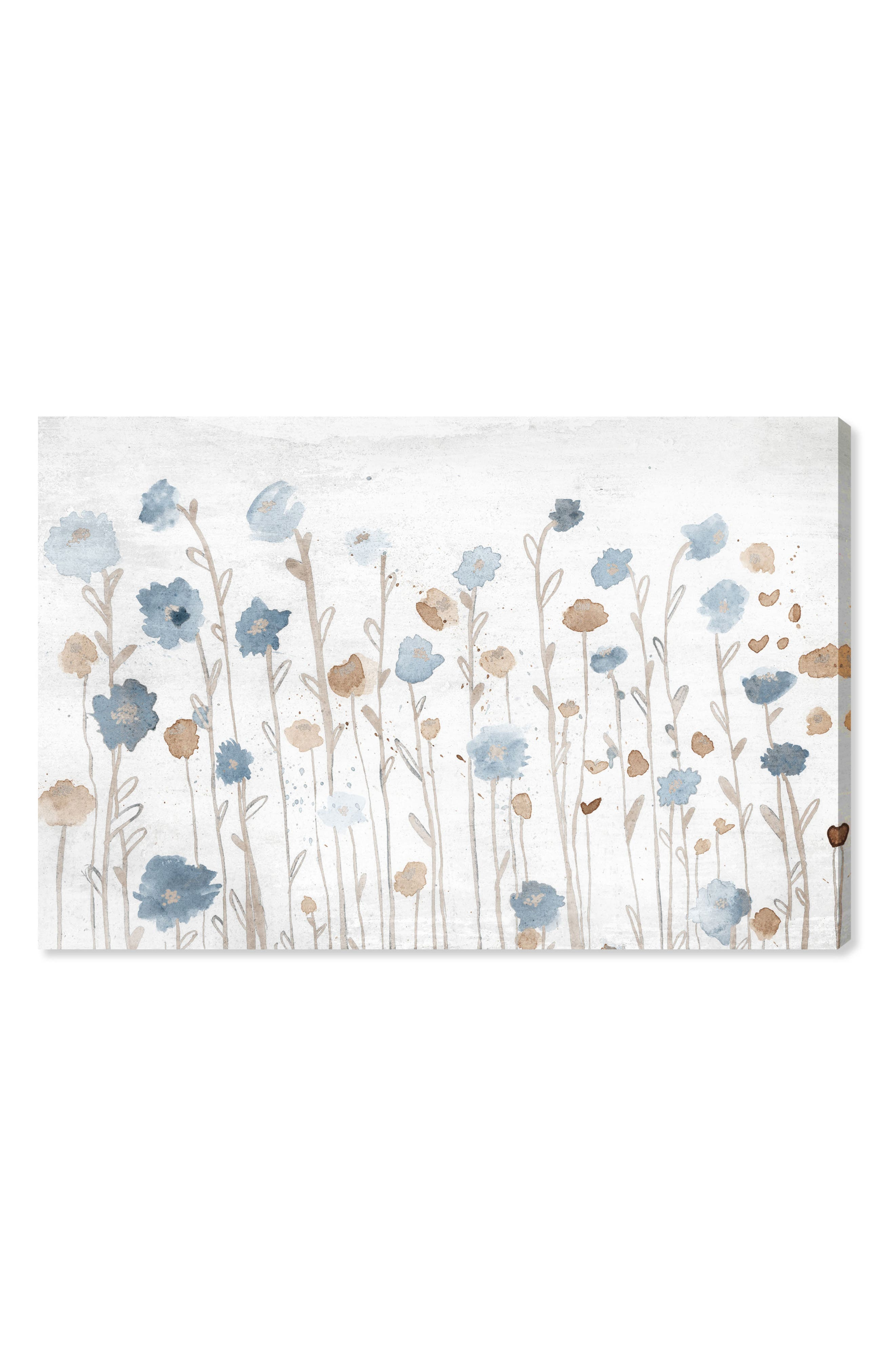 Beautiful Growth Light Blue Canvas Wall Art,                         Main,                         color, White