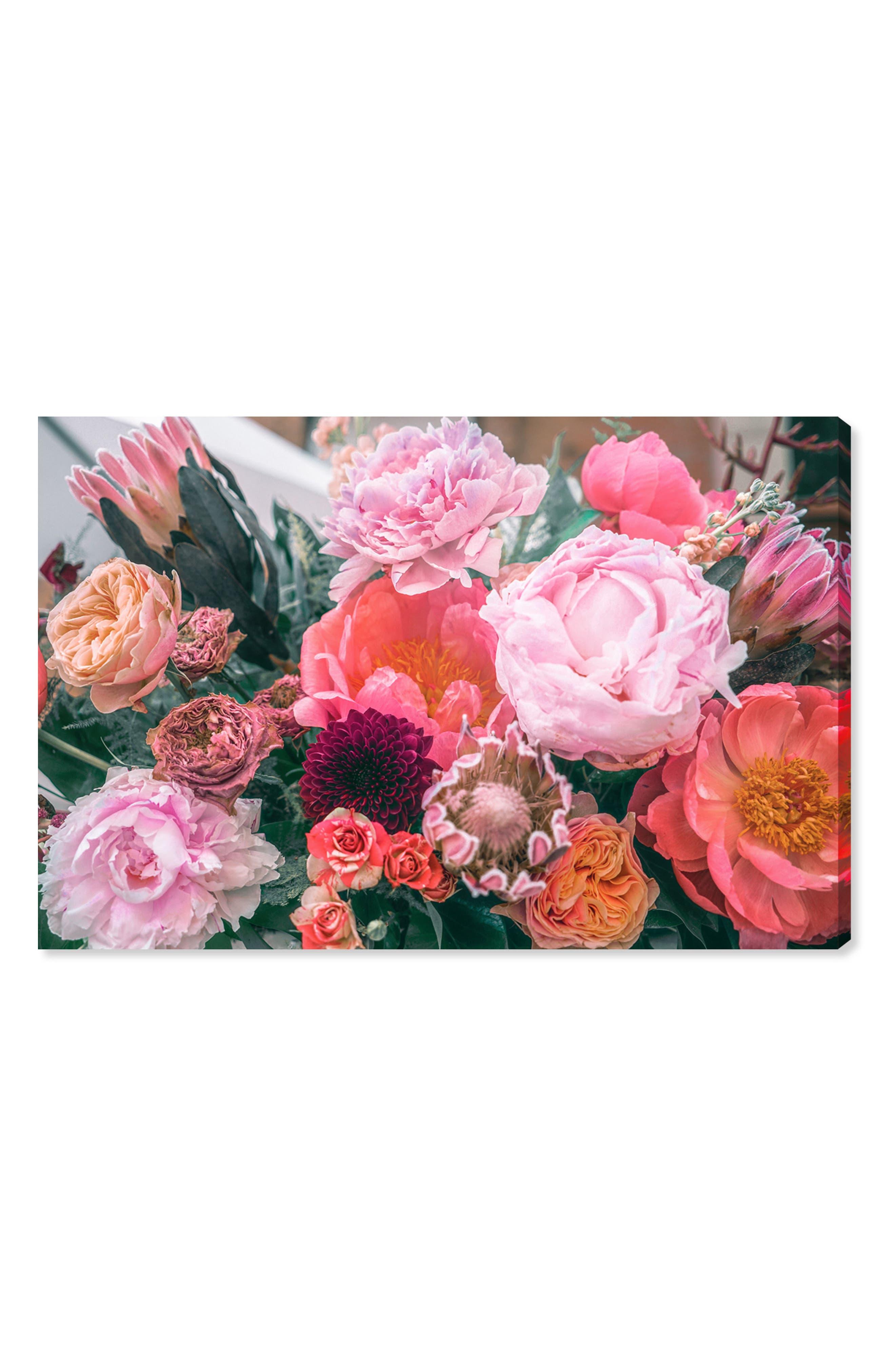 Floralia Canvas Wall Art,                             Main thumbnail 1, color,                             Pink