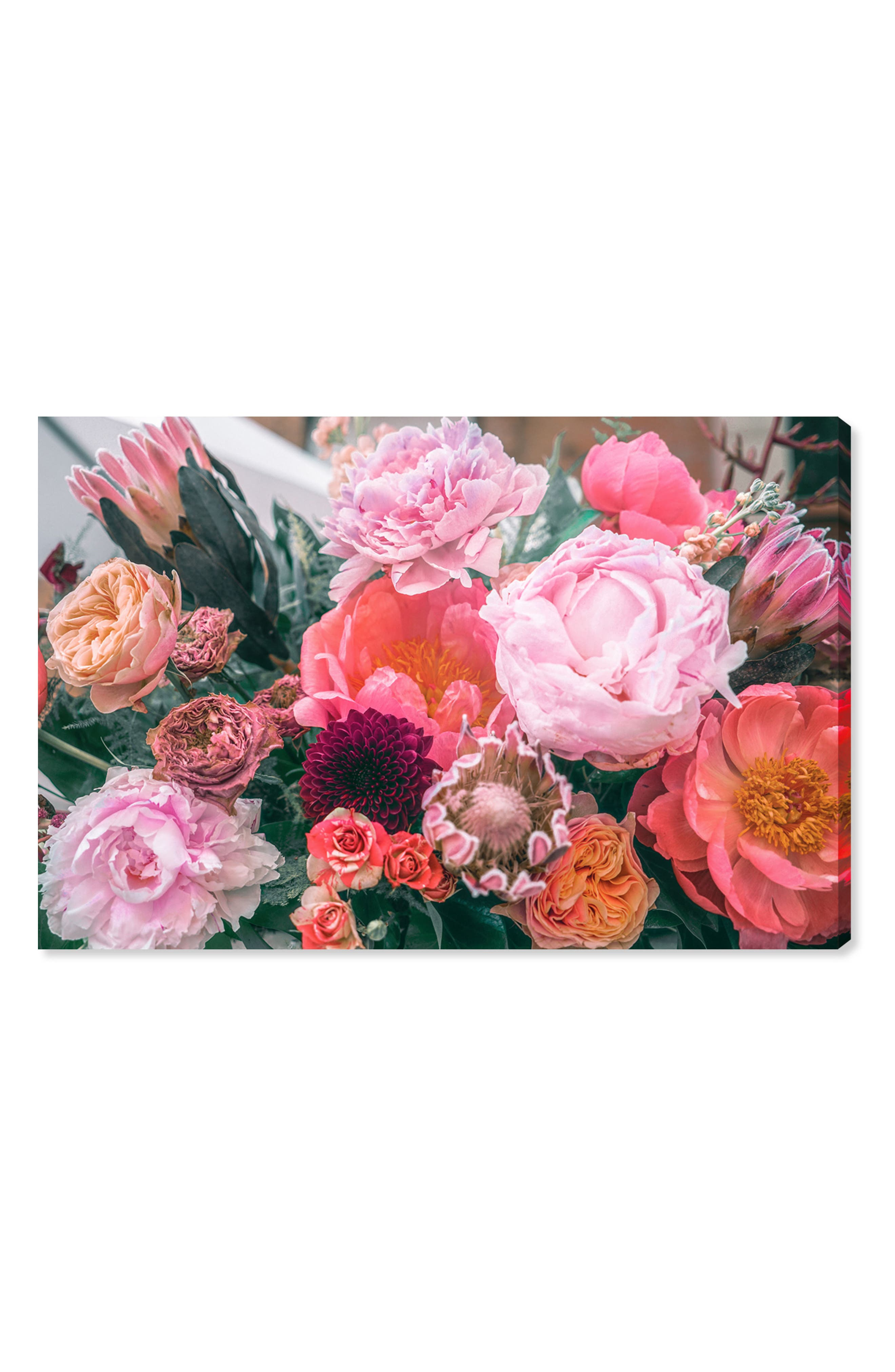 Floralia Canvas Wall Art,                         Main,                         color, Pink