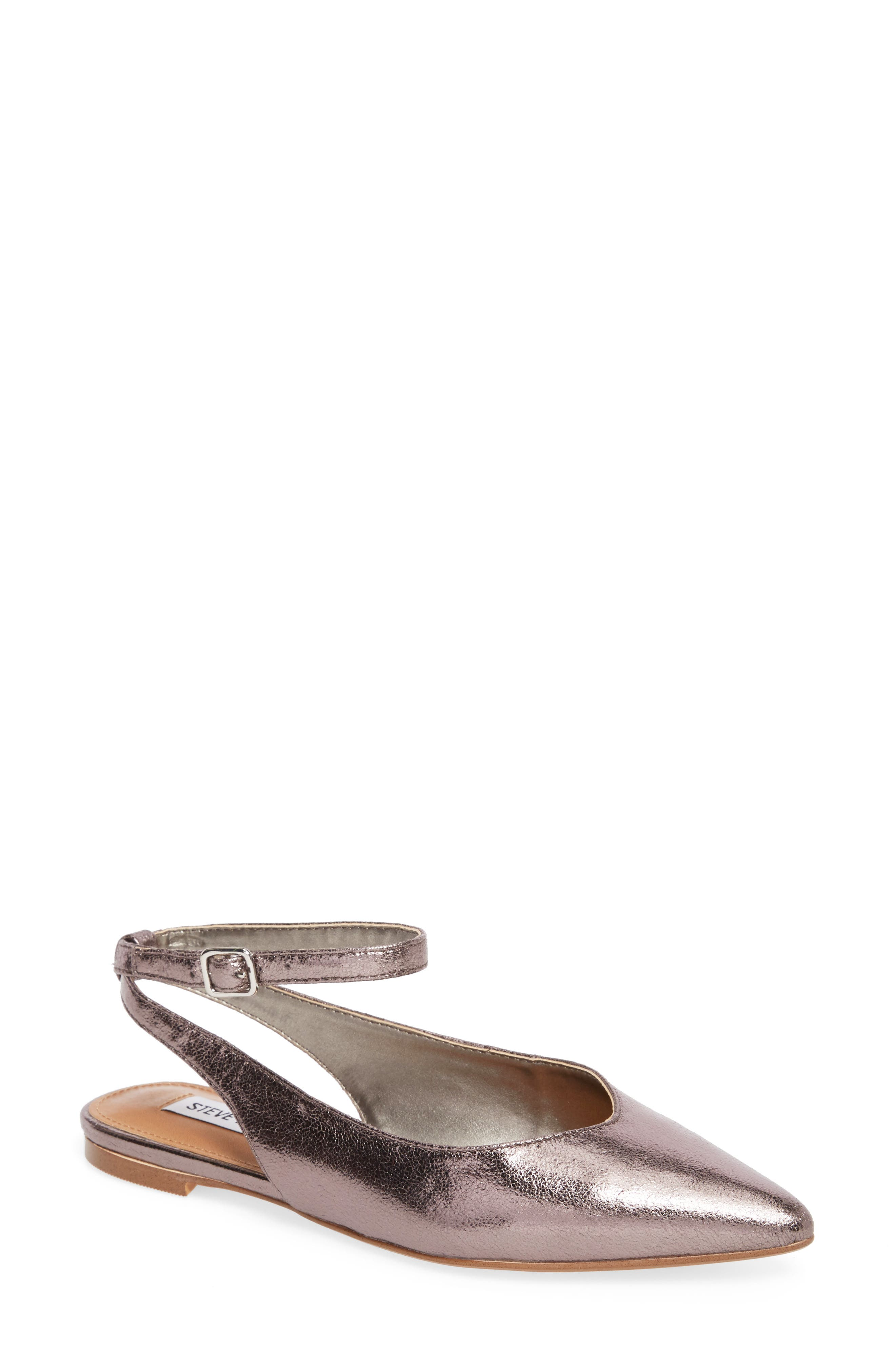 Steve Madden Cupid Ankle Strap Flat (Women)