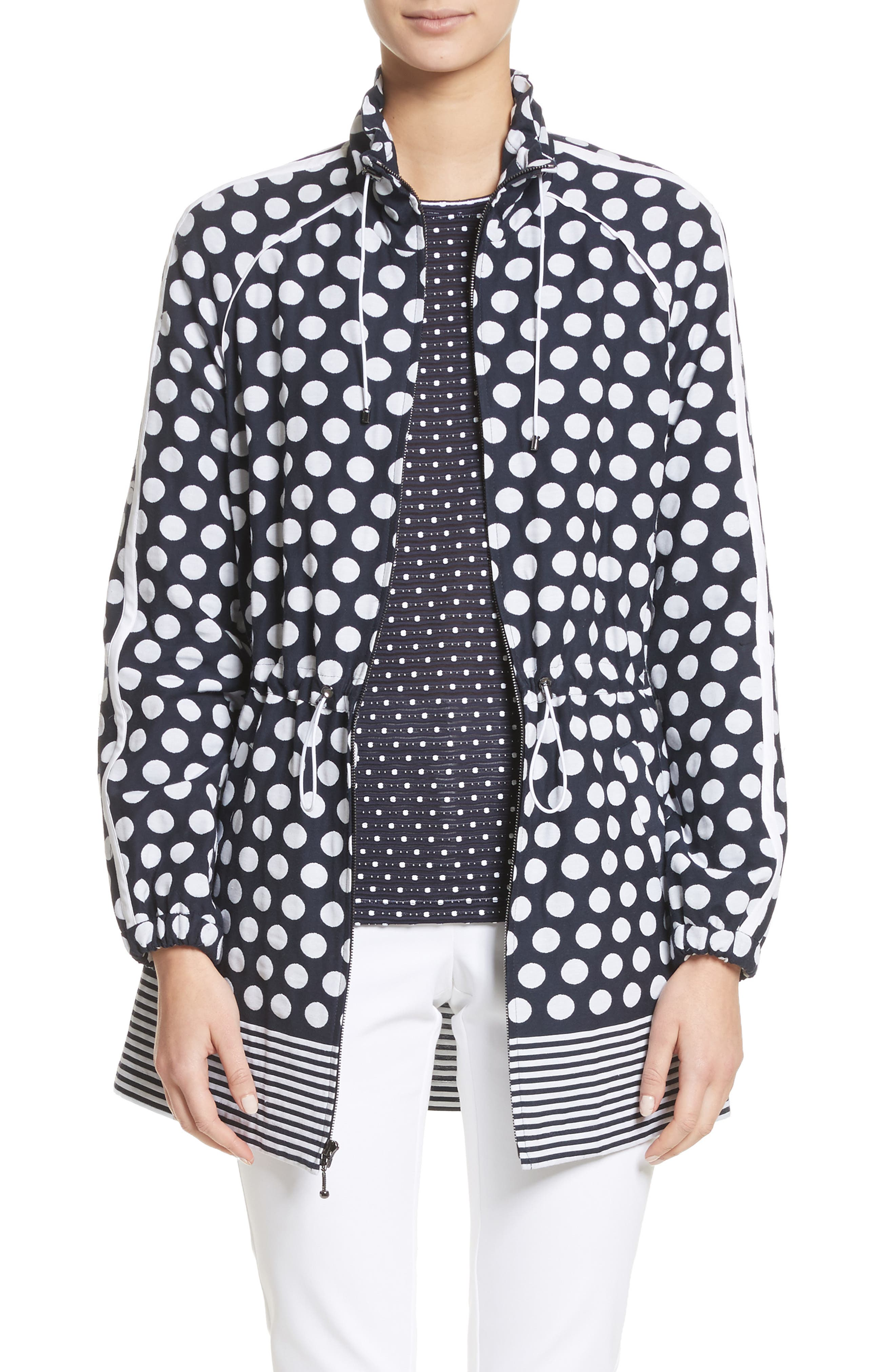 Polka Dot,                         Main,                         color, Navy/ Bianco