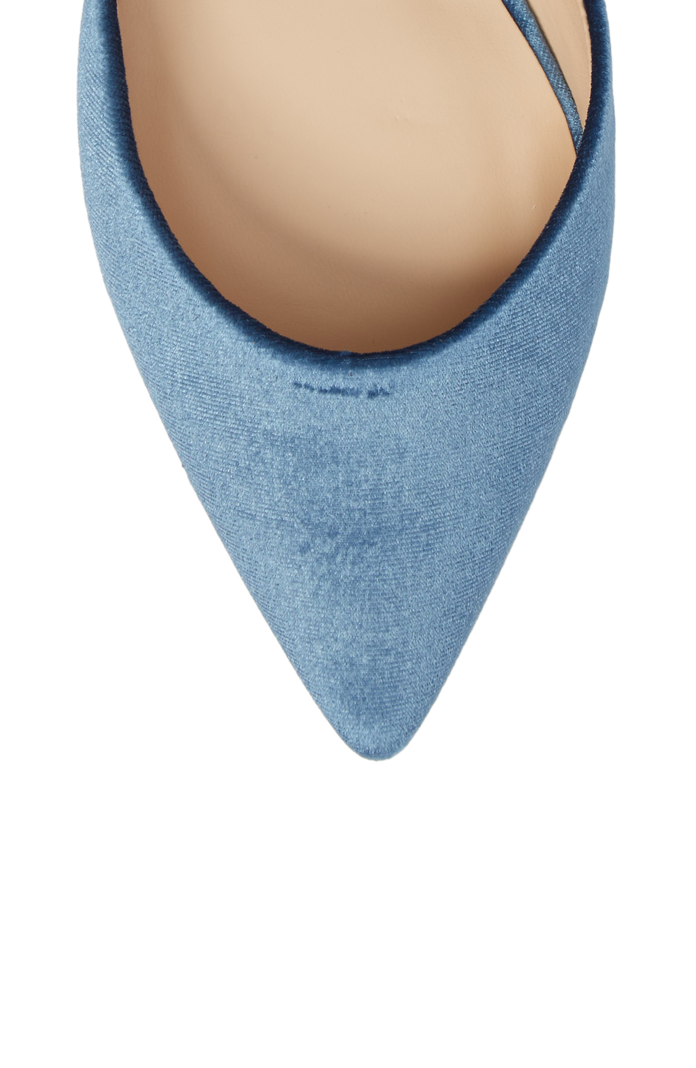 Teena d'Orsay Flat with Ties,                             Alternate thumbnail 5, color,                             Glacier Blue