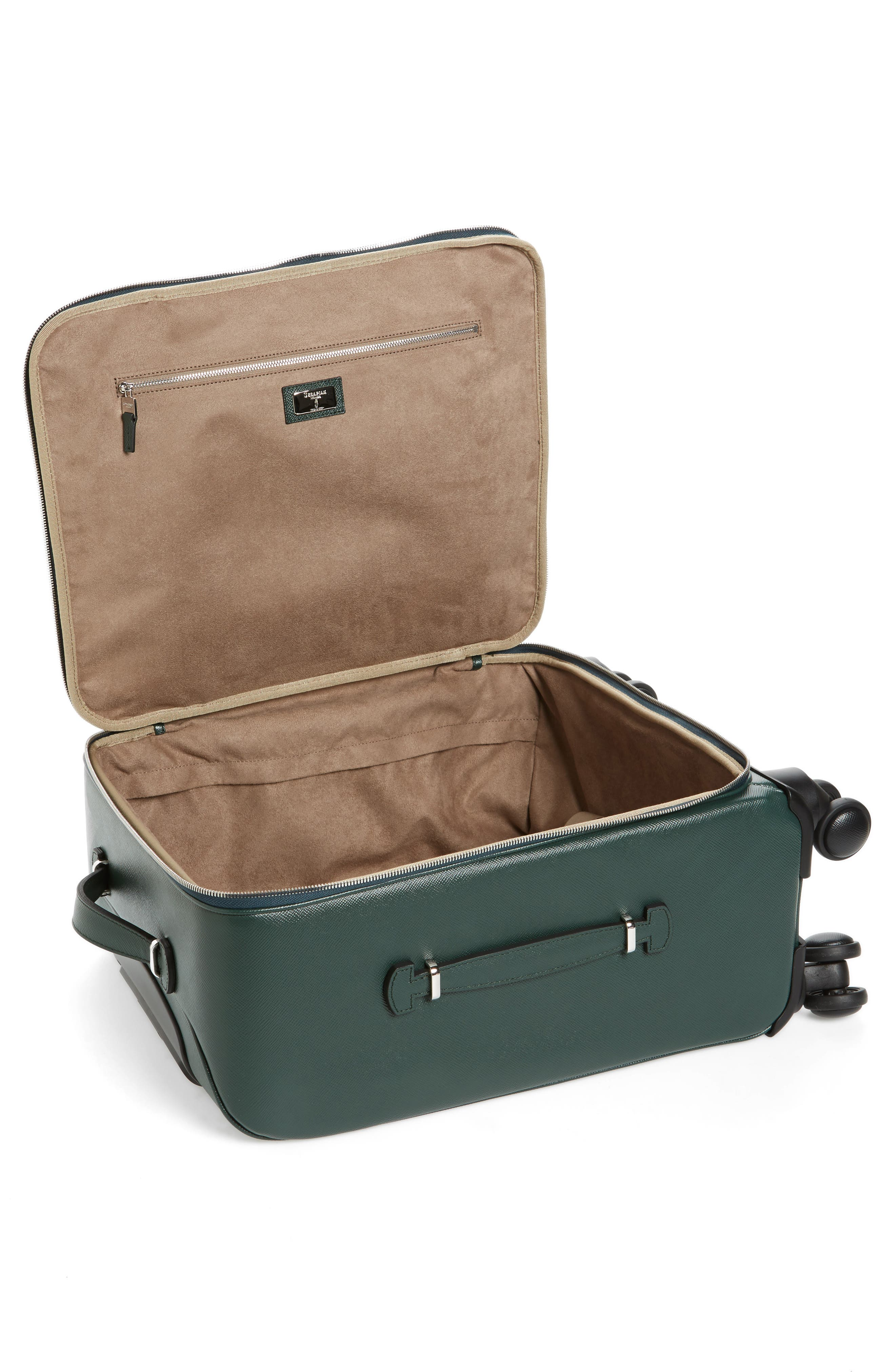 Alternate Image 2  - Serapian Milano Trolley Spinner Wheeled Carry-On Suitcase