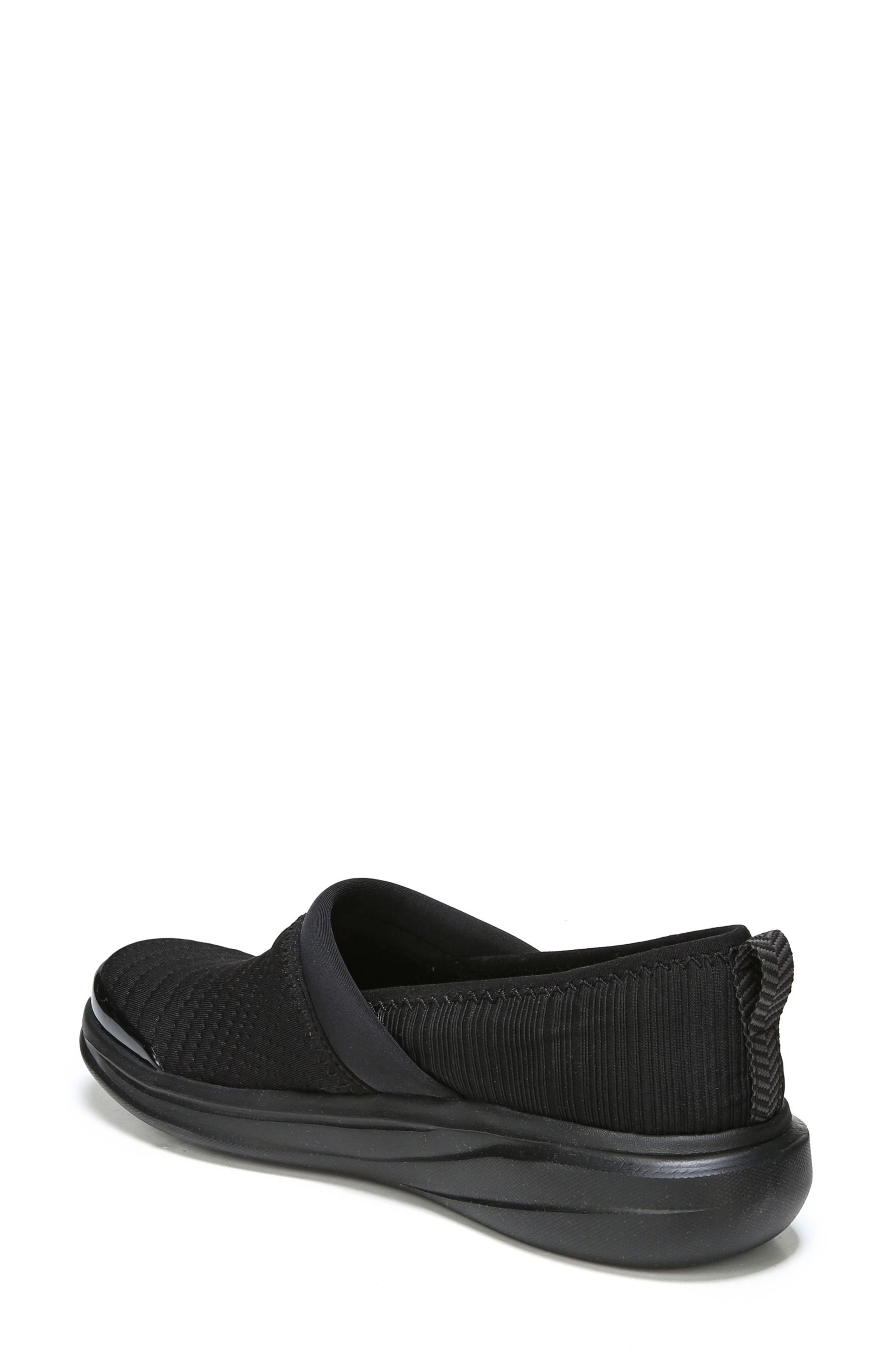 Coco Slip-On Sneaker,                             Alternate thumbnail 2, color,                             Black Fabric