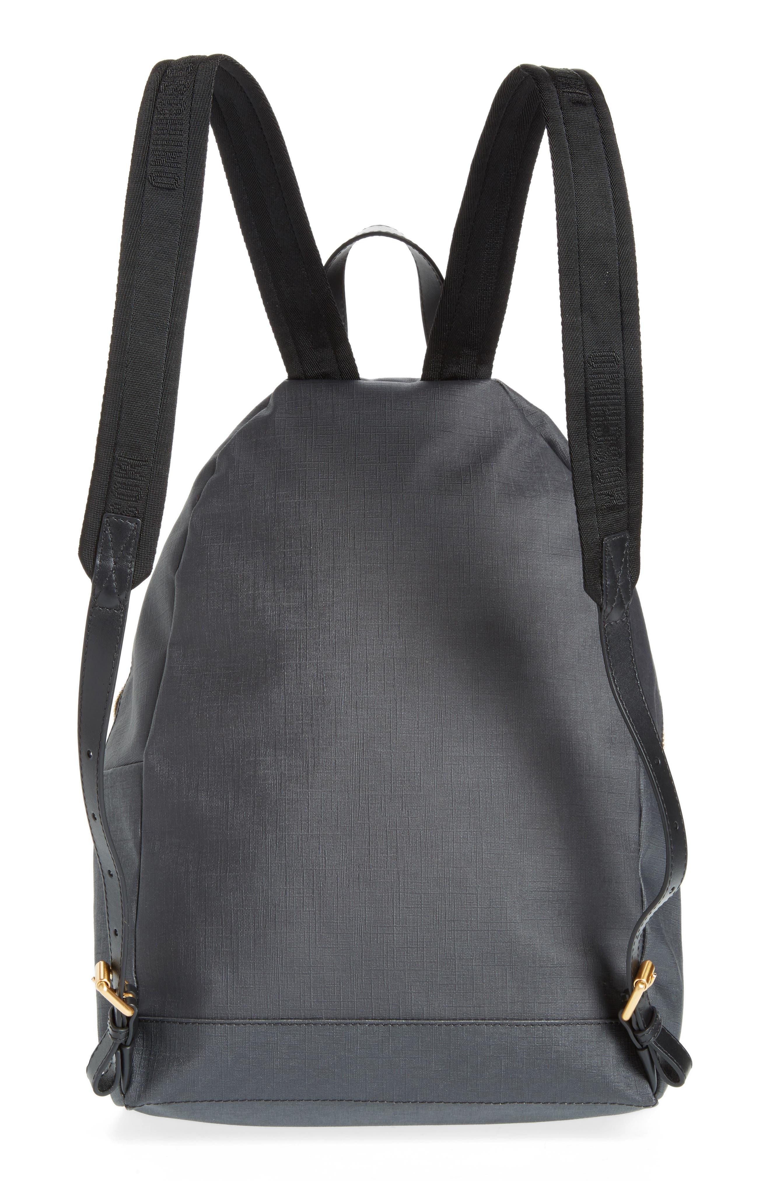 x Playboy Large Bunny Bear Woven Backpack,                             Alternate thumbnail 3, color,                             Black