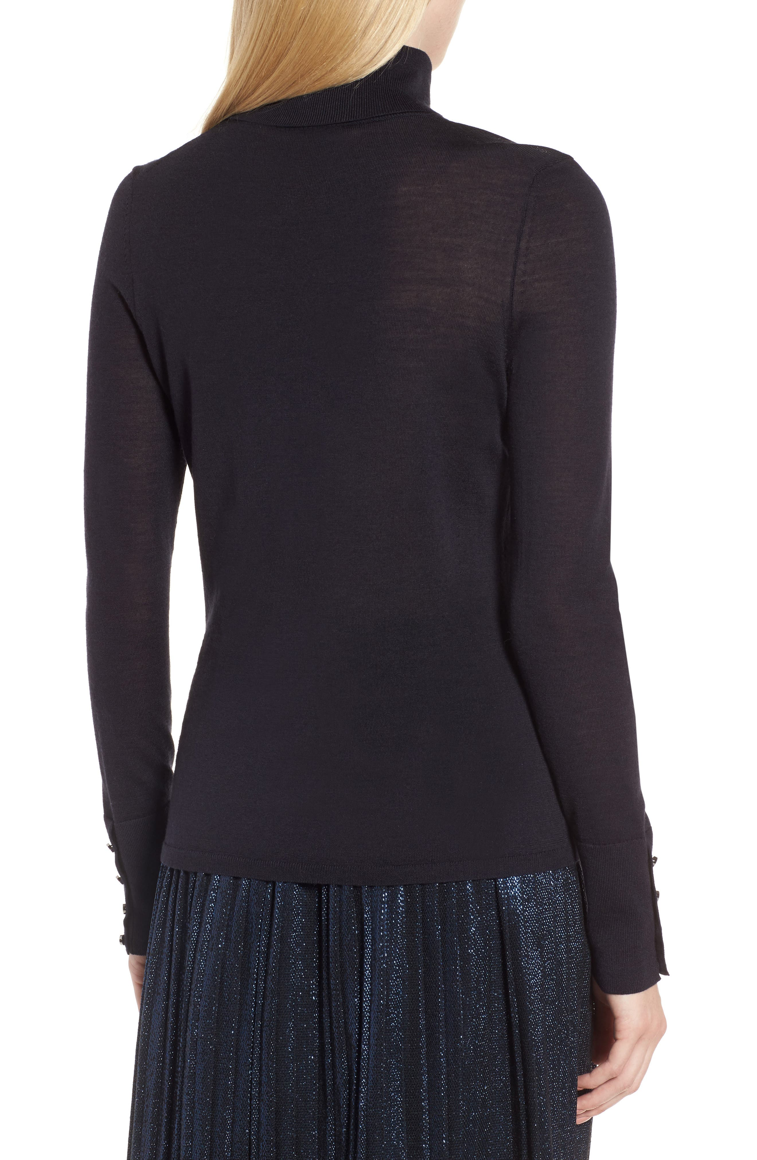 Farrella Wool Turtleneck Sweater,                             Alternate thumbnail 2, color,                             Navy