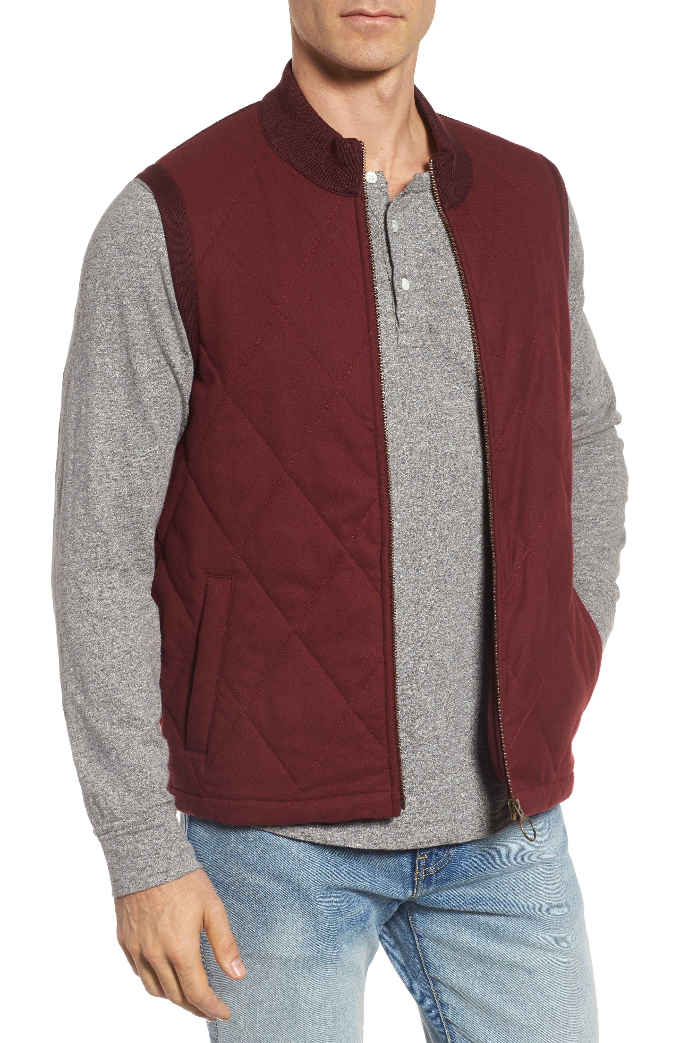Barra Mixed Media Vest,                         Main,                         color, Port