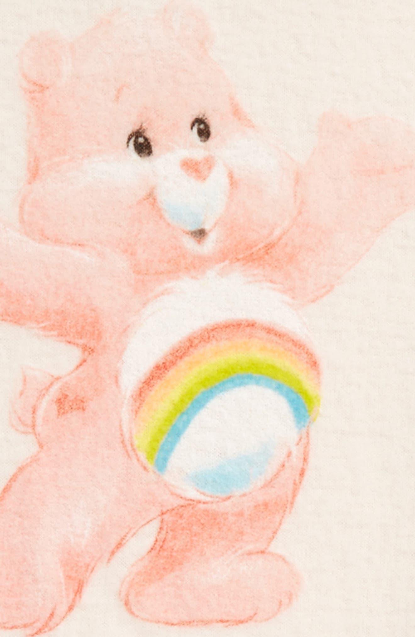 Alternate Image 2  - Care Bears™ by Fine Threads Cheer Bear Dress (Toddler Girls & Little Girls)
