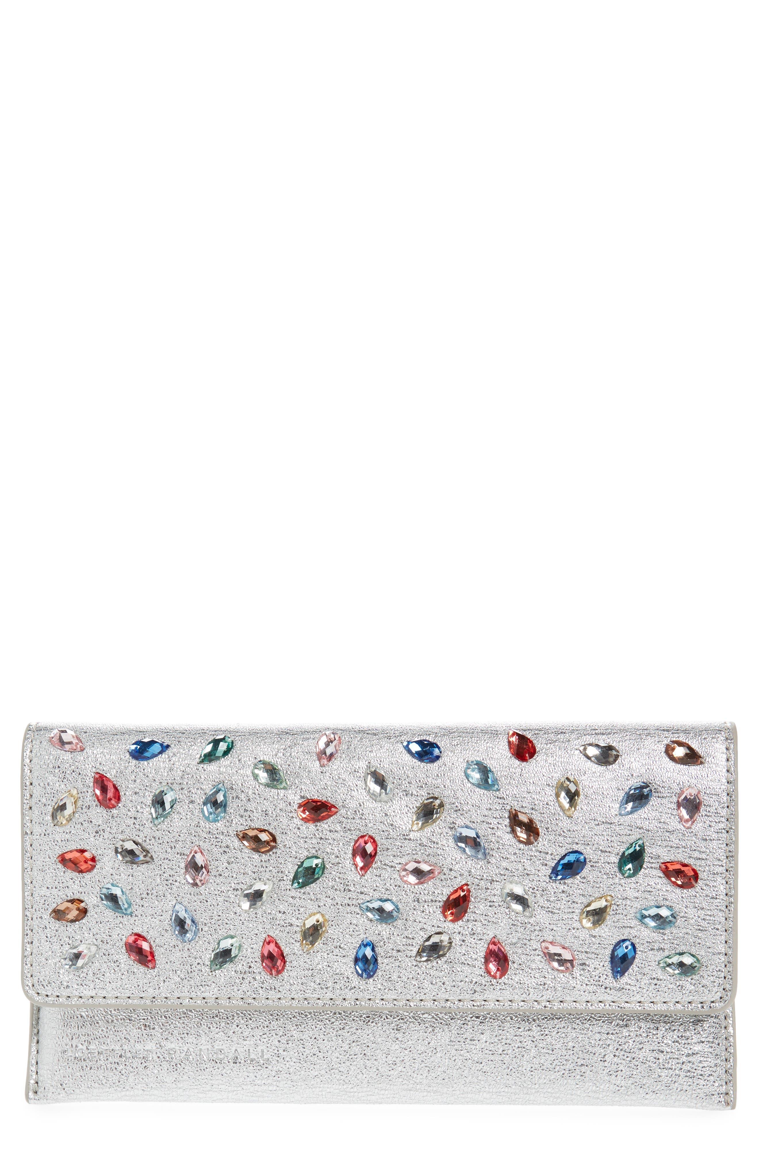 Alternate Image 1 Selected - Loeffler Randall Everything Crystal Embellished Leather Wallet