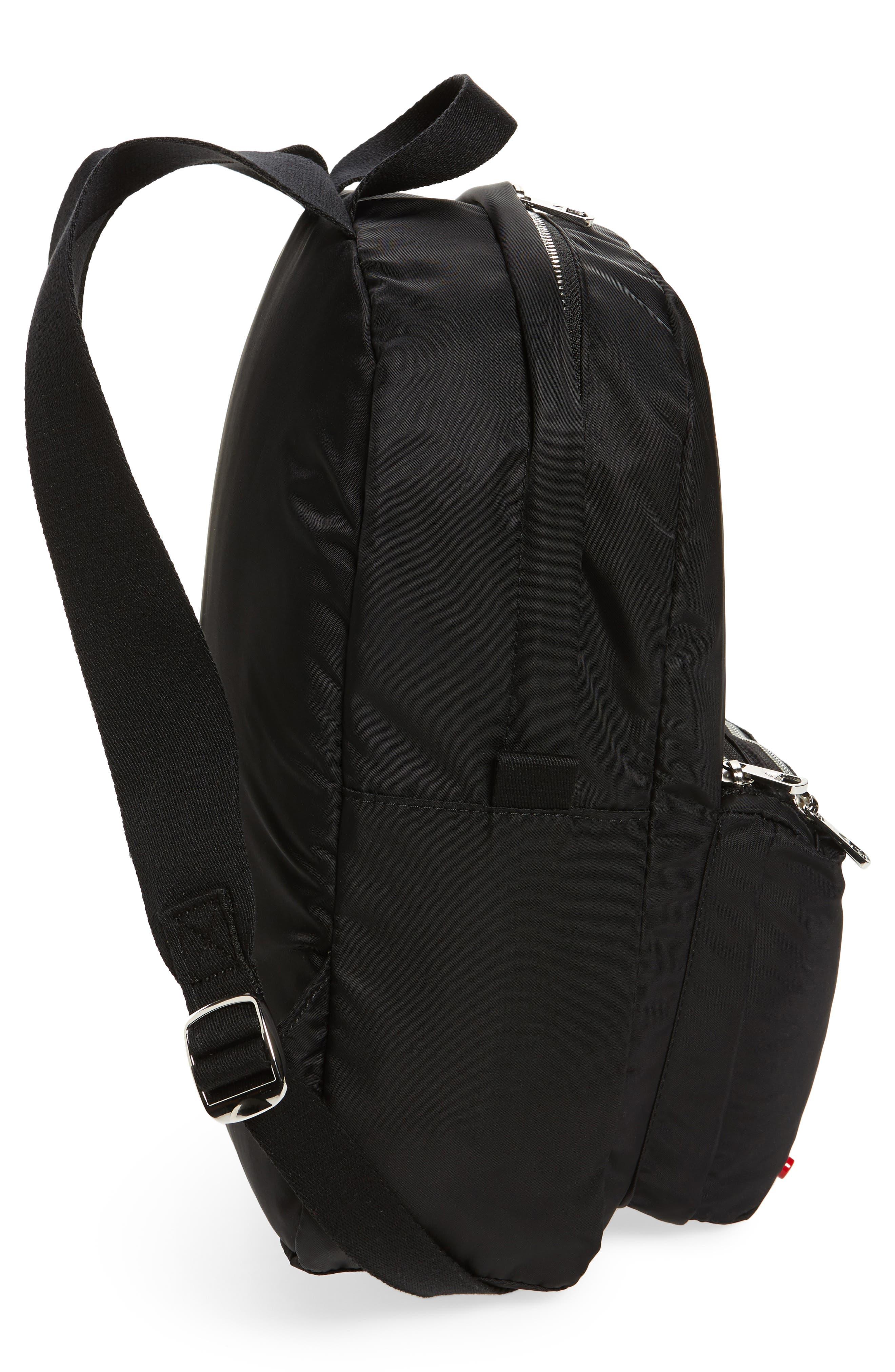 The Heights Mini Lorimer Nylon Backpack,                             Alternate thumbnail 5, color,                             Black