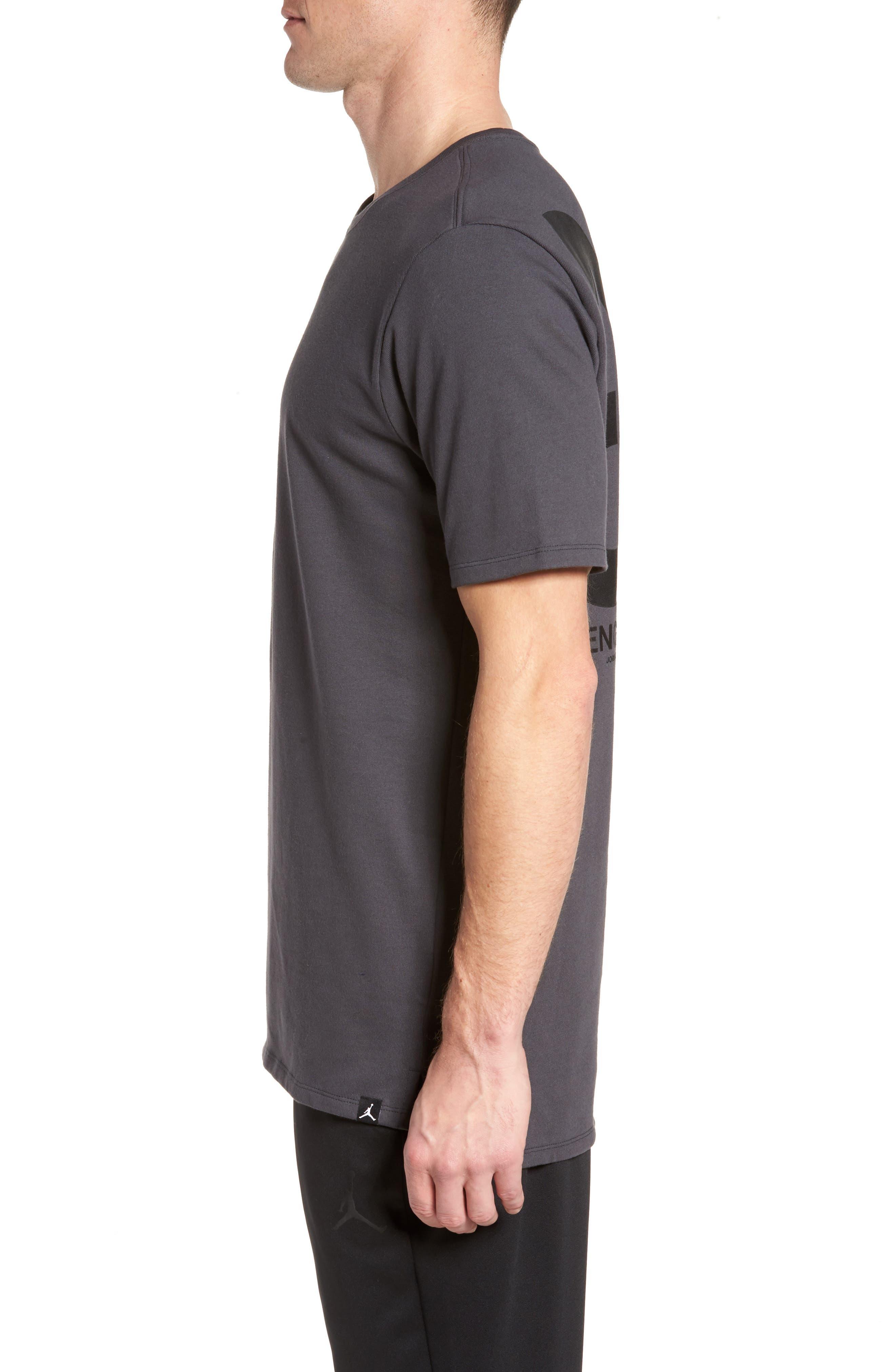 Sportswear 23 Engineered T-Shirt,                             Alternate thumbnail 3, color,                             Anthracite/ Black