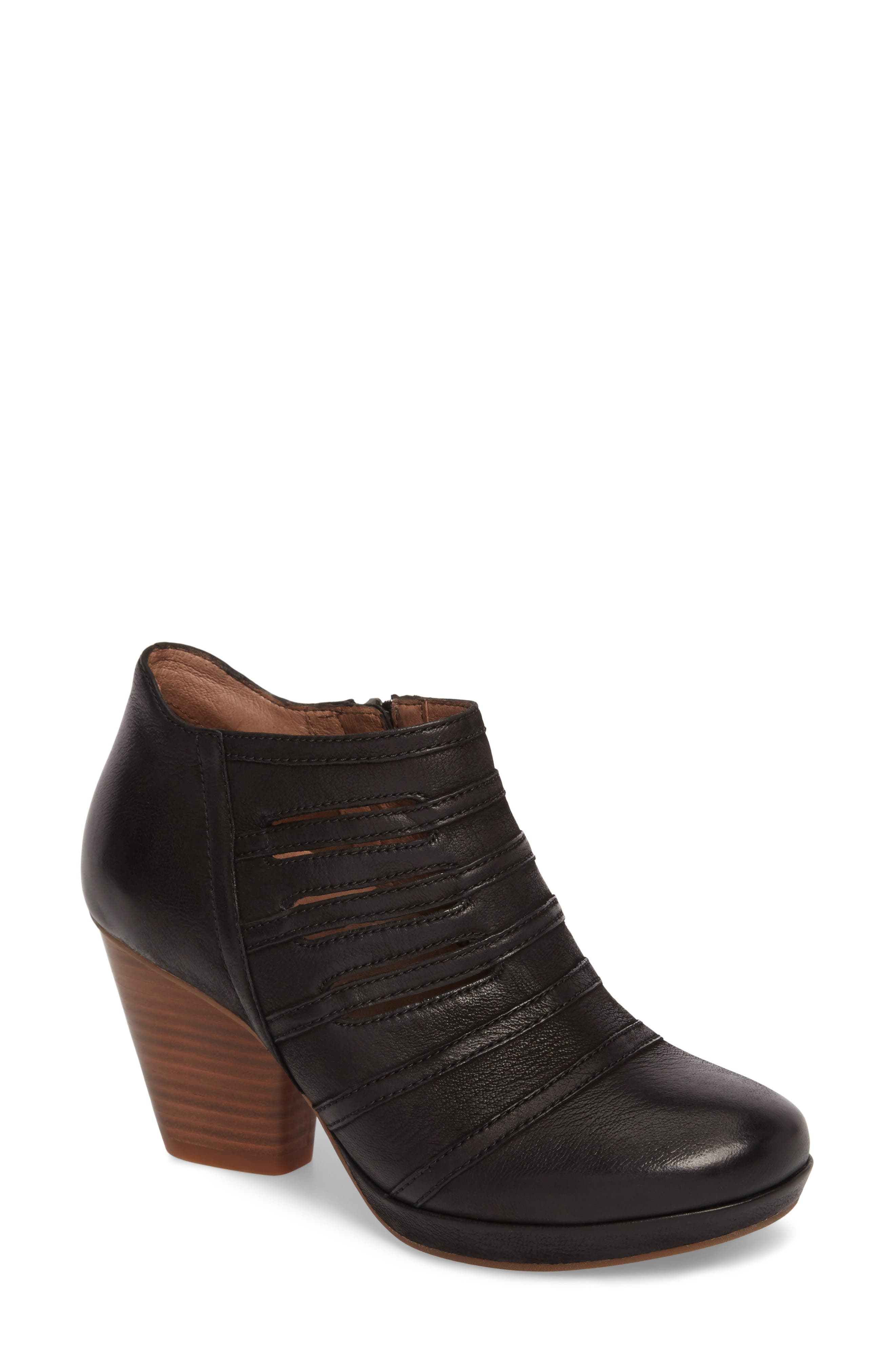Meadow Bootie,                             Main thumbnail 1, color,                             Meadow Black Burnished Leather