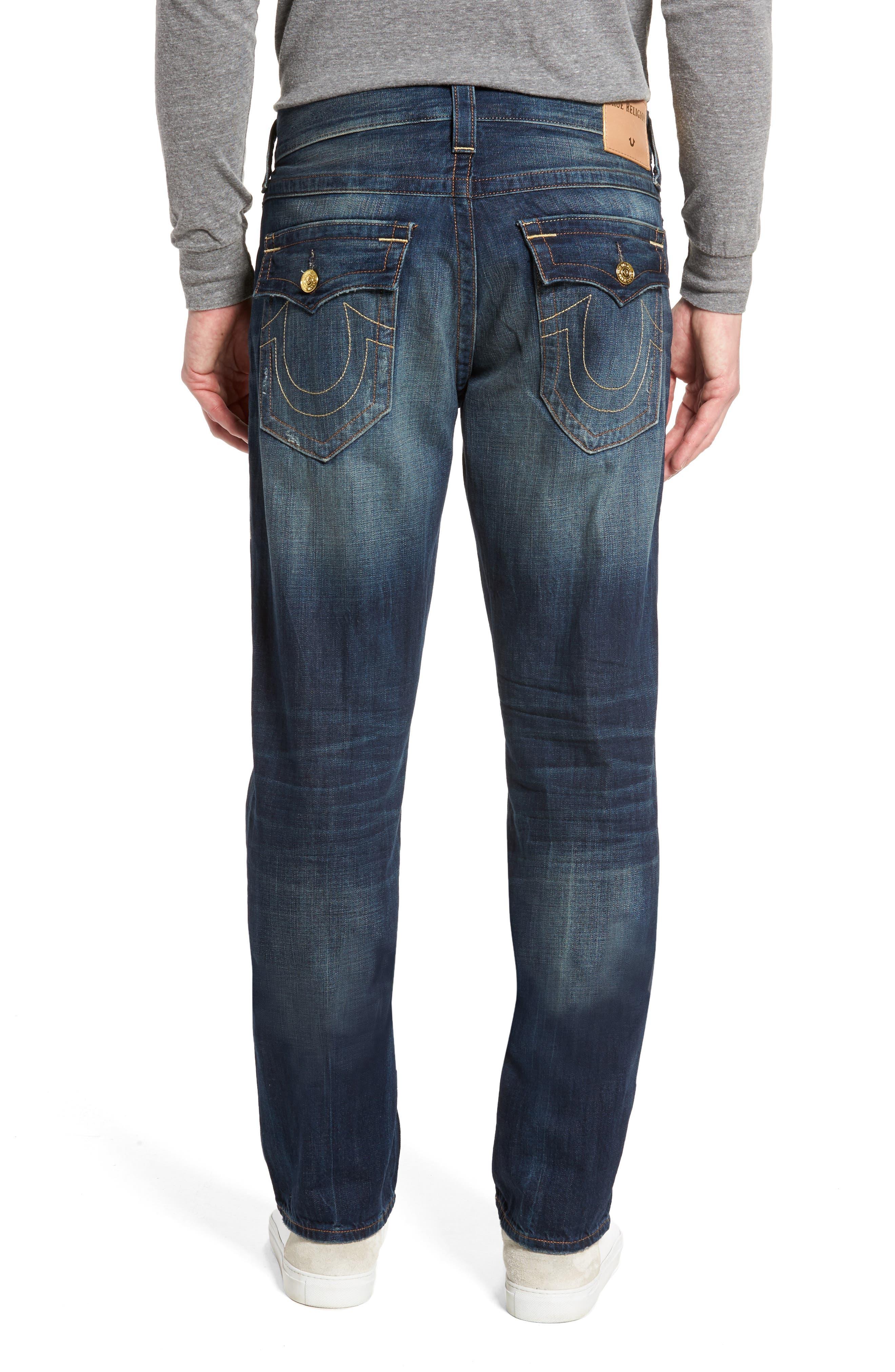 Alternate Image 2  - True Religion Brand Jeans Geno Straight Leg Jeans (Mended Center Stage)
