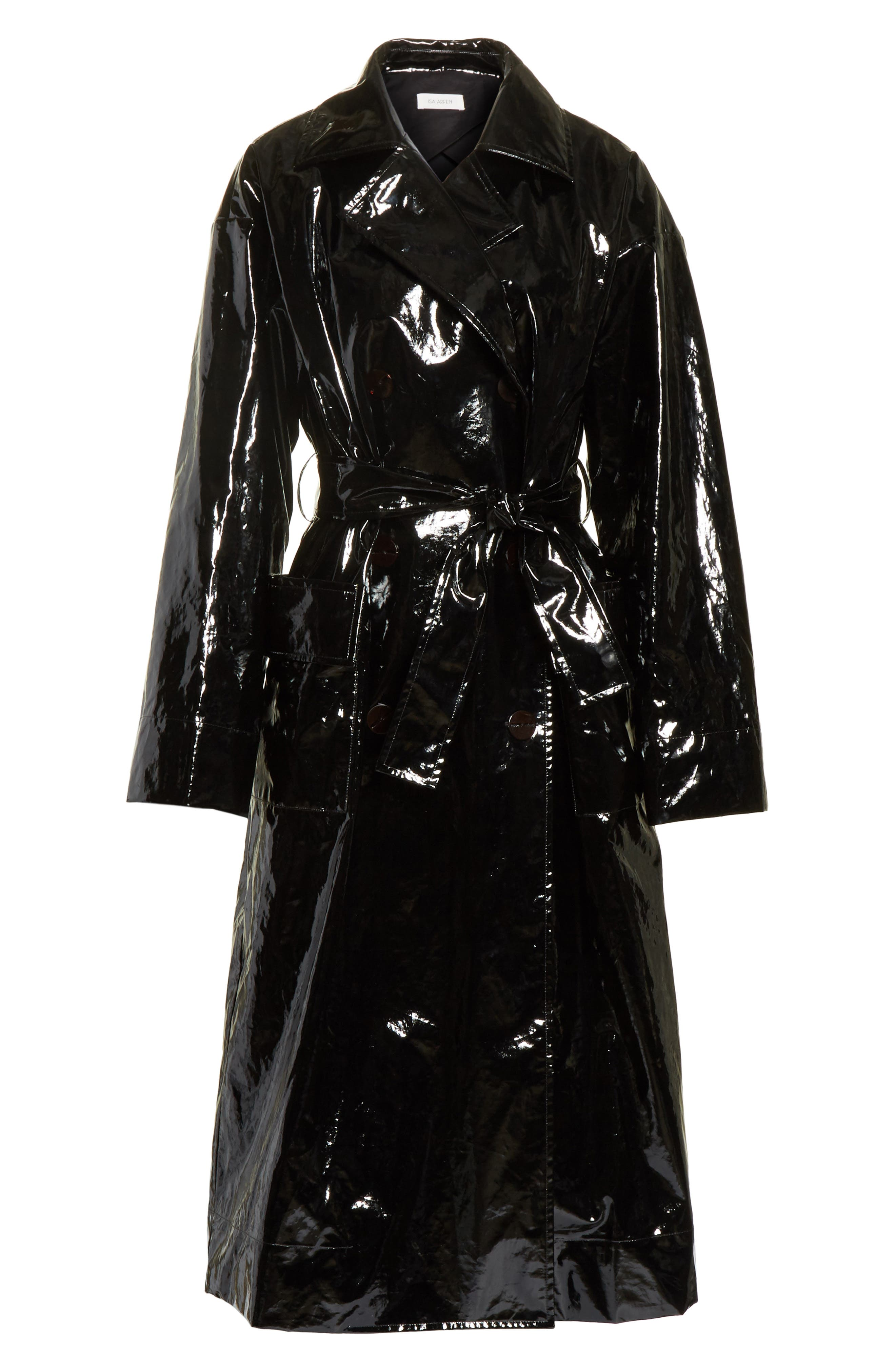Classic Relaxed Trench Coat,                             Alternate thumbnail 7, color,                             Black