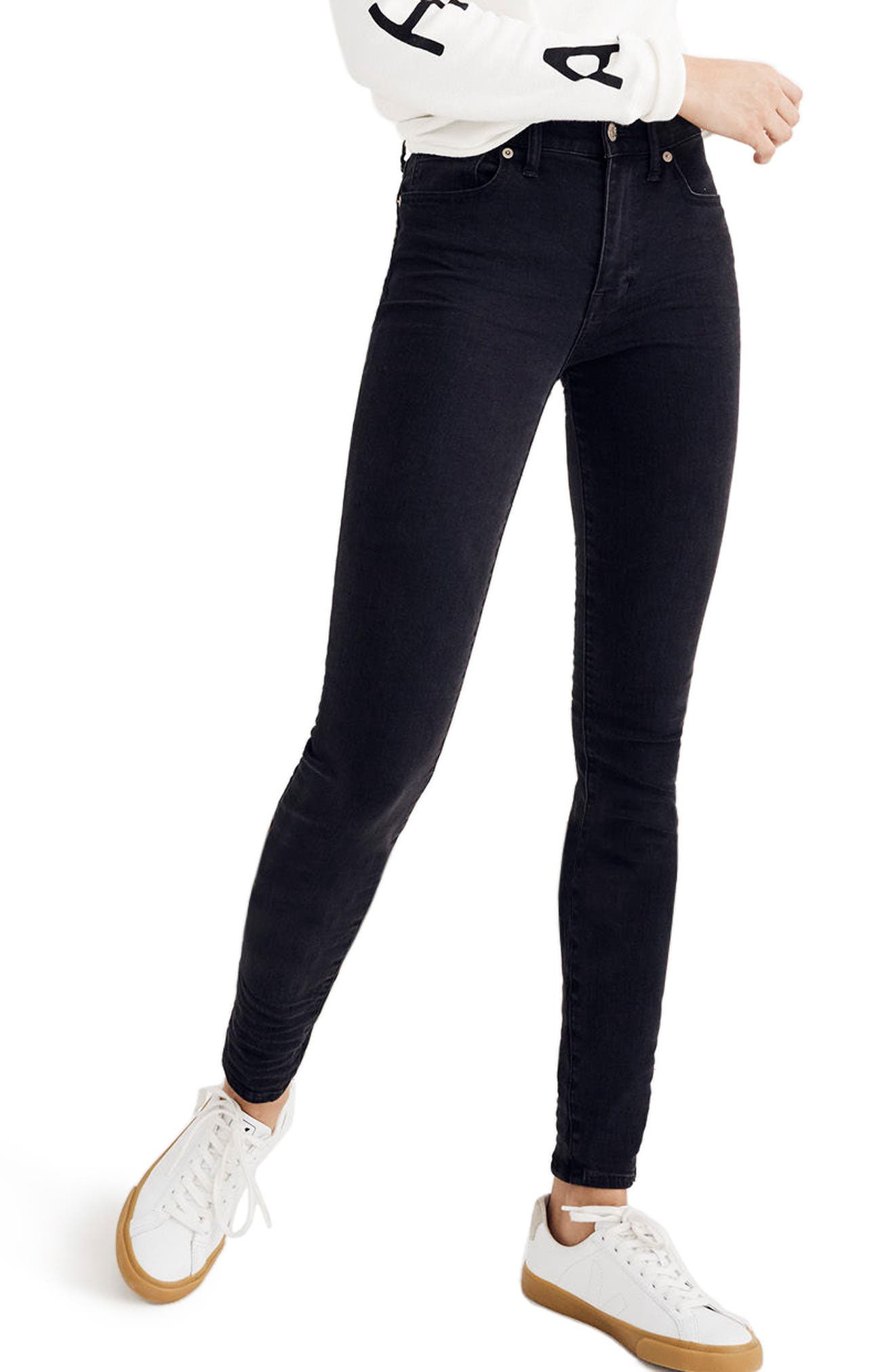Main Image - Madewell 9-Inch High-Rise Skinny Jeans (Lunar)