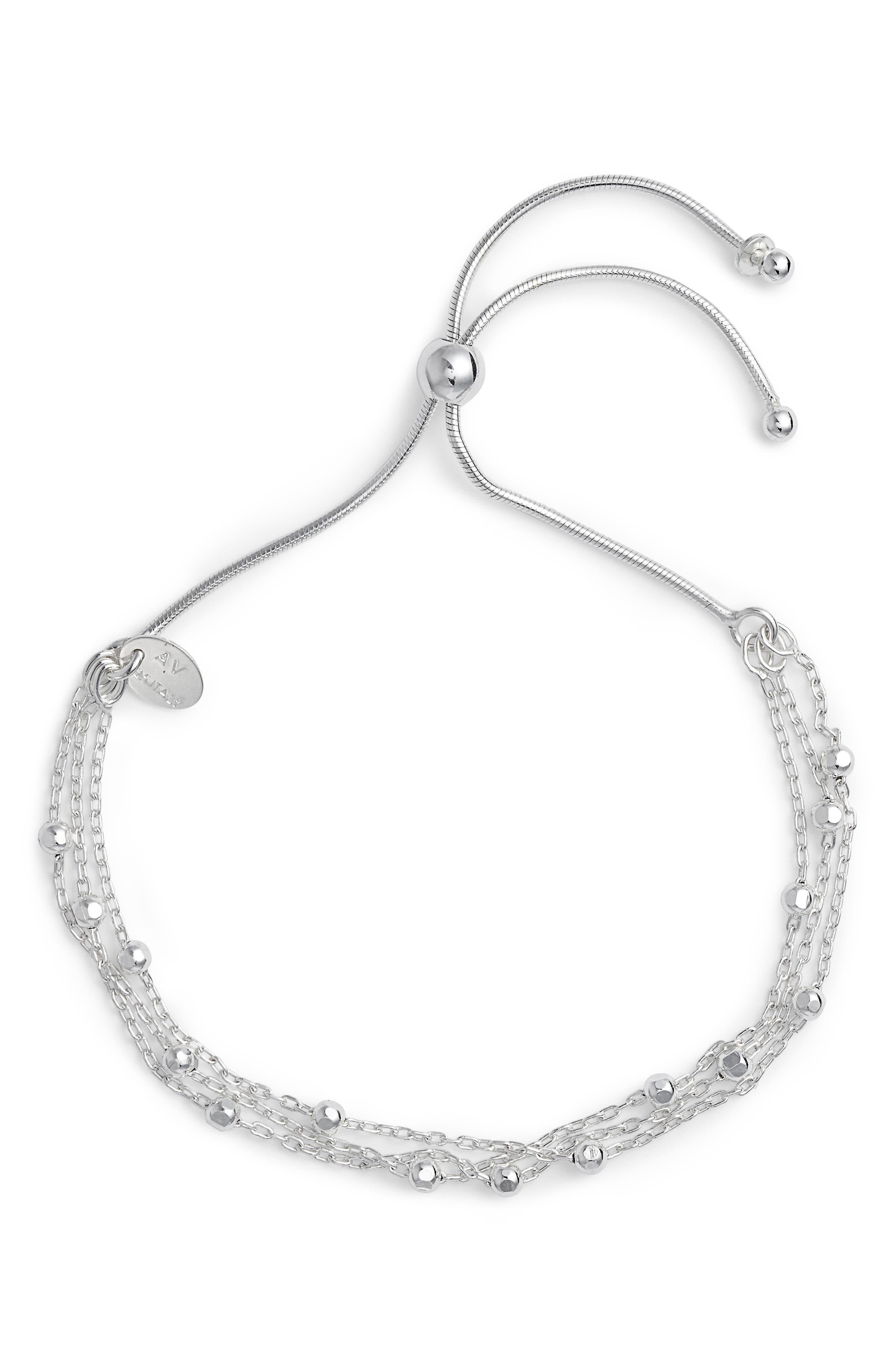 Argento Vivo Beaded Chain Bracelet