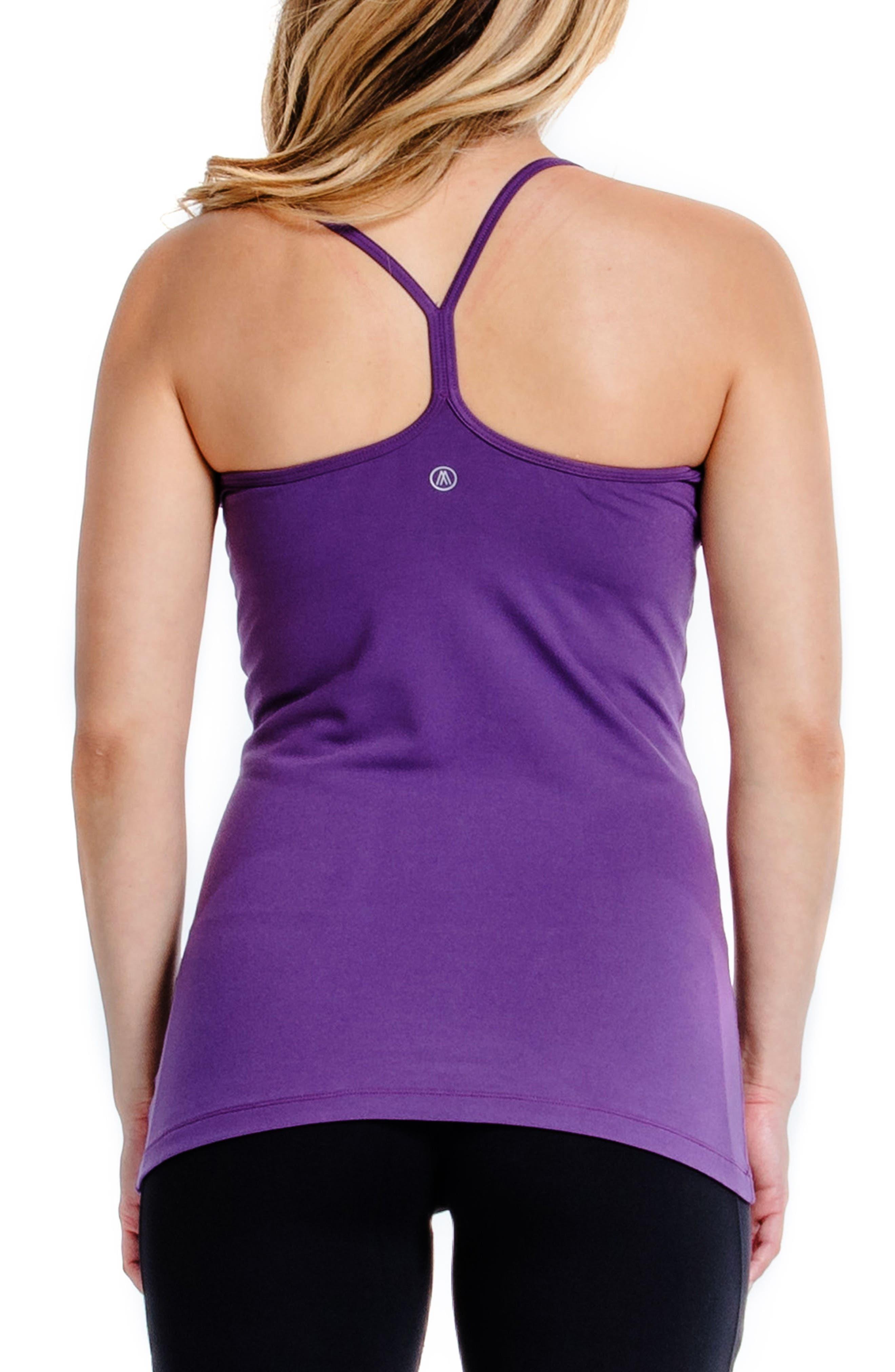Spell UPF 50+ Maternity Tank Top,                             Alternate thumbnail 2, color,                             Purple Indigo