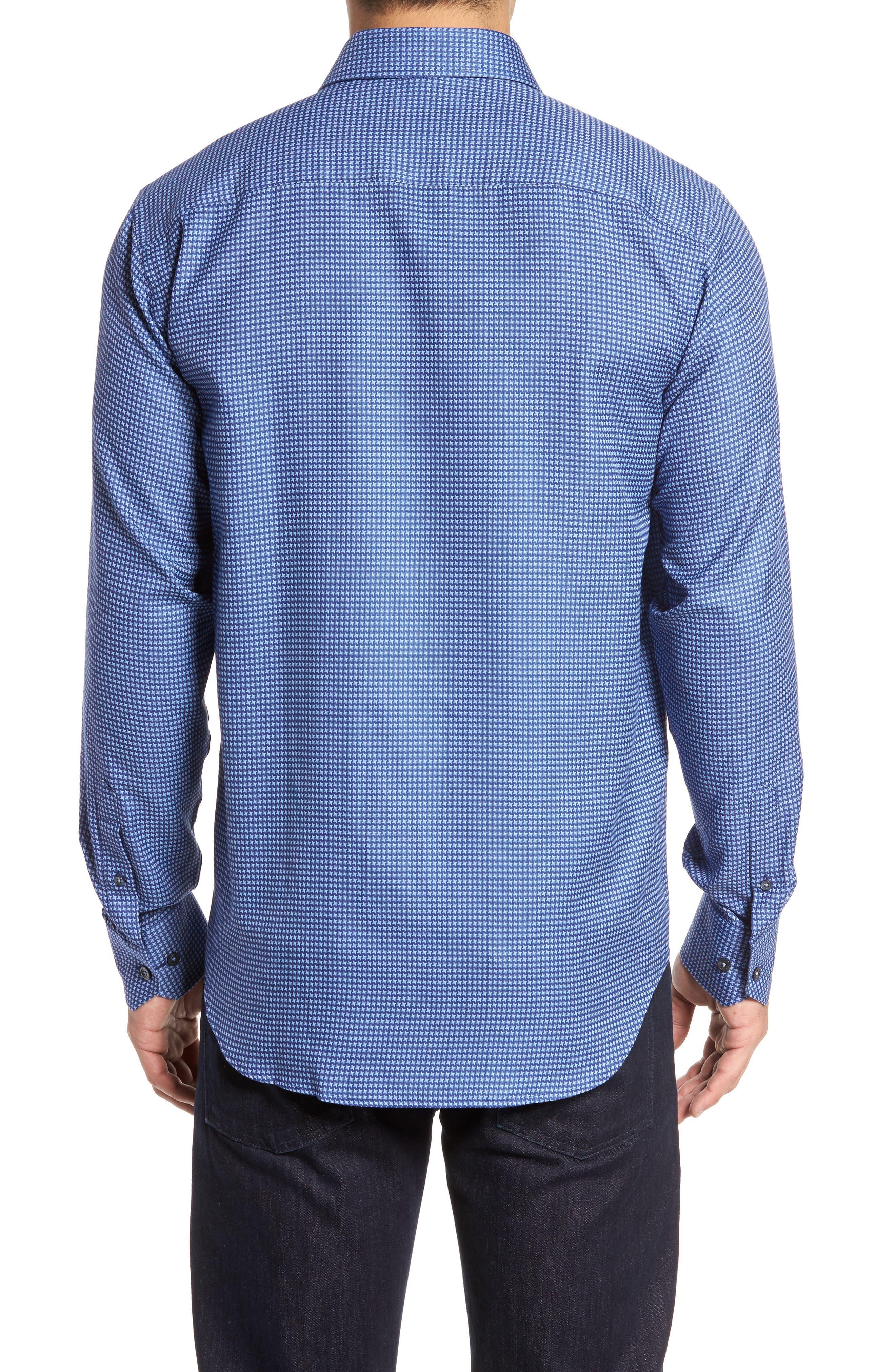 Classic Fit Print Sport Shirt,                             Alternate thumbnail 2, color,                             Navy