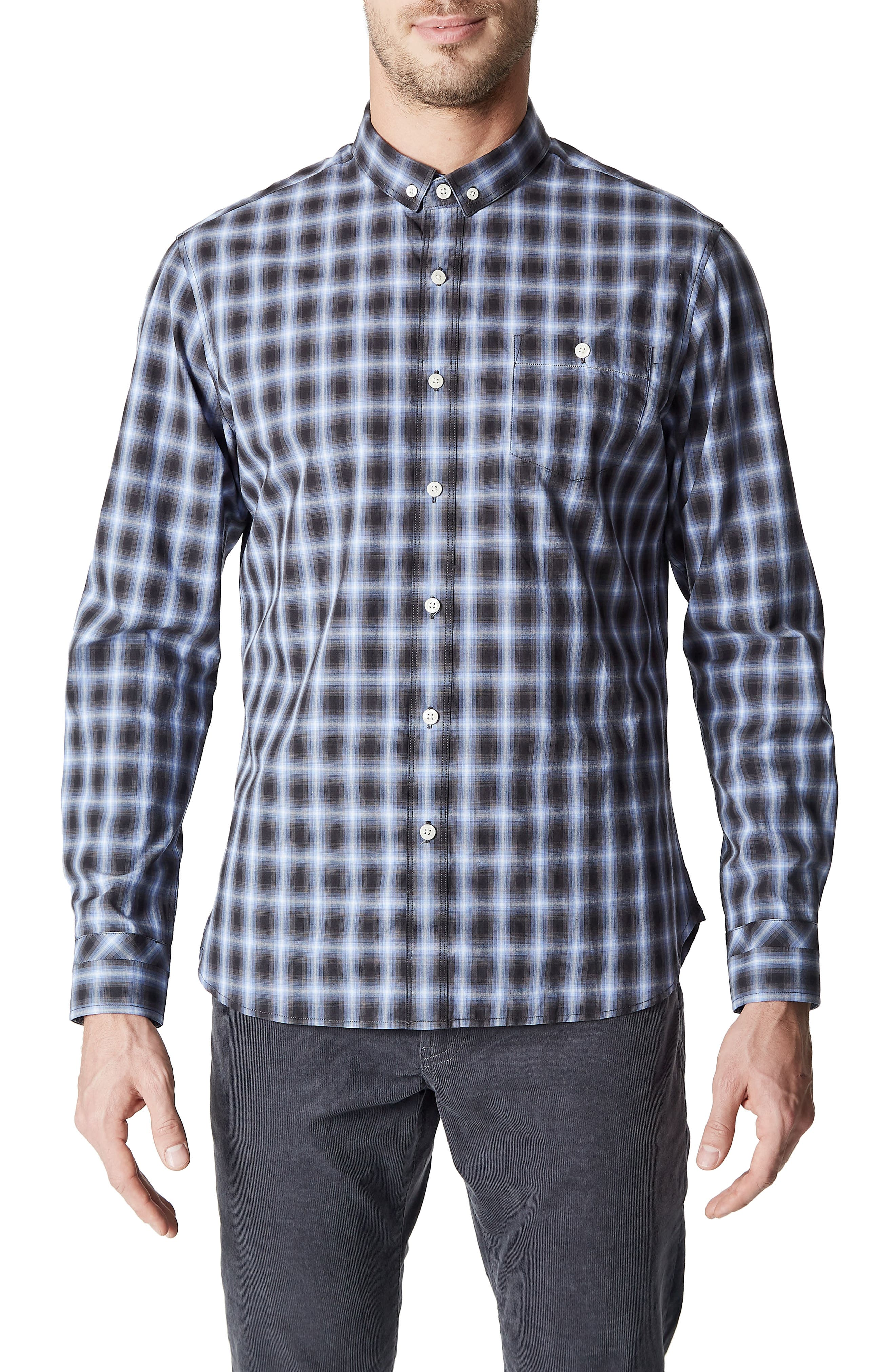 Higher Ground Woven Shirt,                         Main,                         color, Blue
