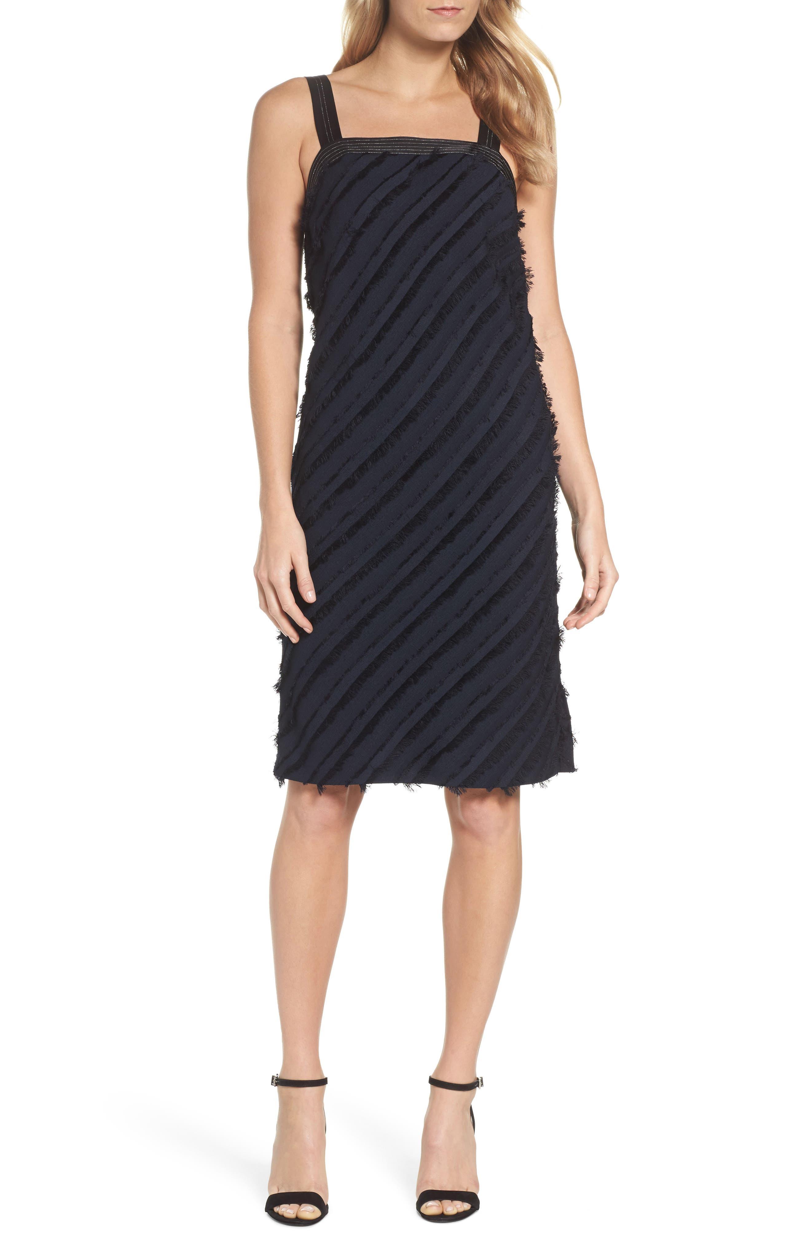 Frayed Stripe Dress,                         Main,                         color, Multi