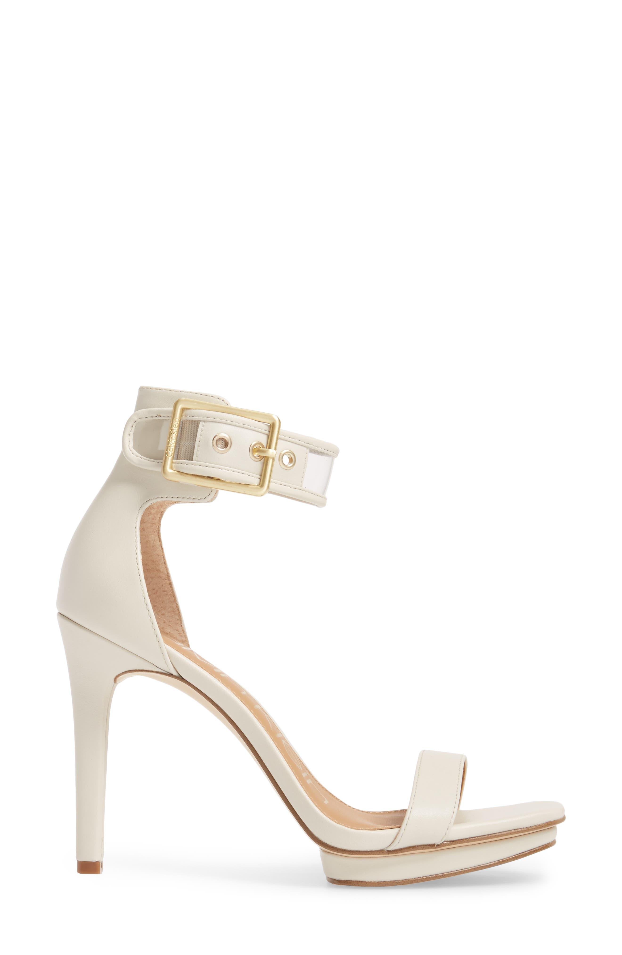 Vable Sandal,                             Alternate thumbnail 3, color,                             Soft White Leather