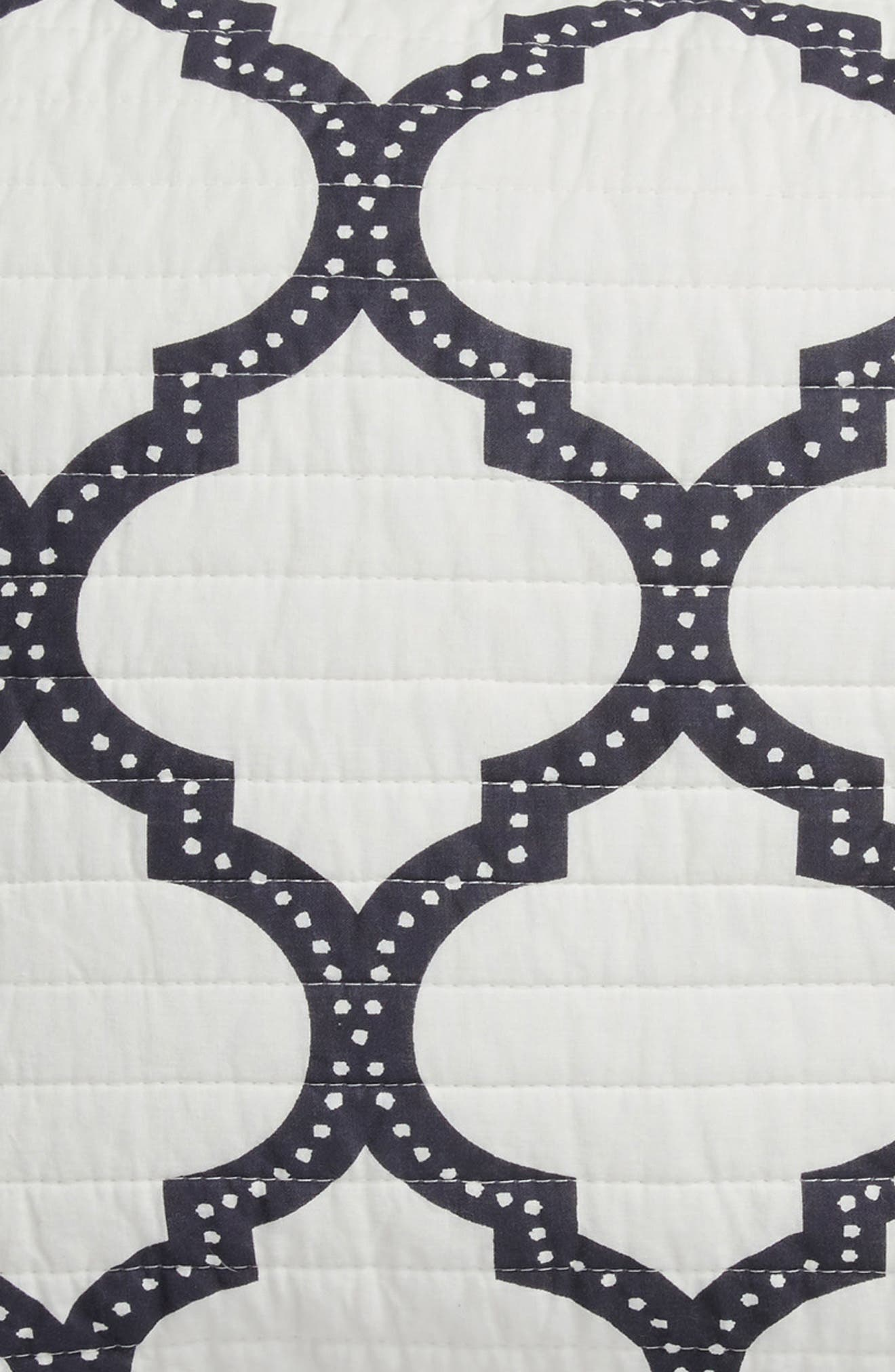 Moroccan Charcoal Sham,                             Alternate thumbnail 2, color,                             Charcoal