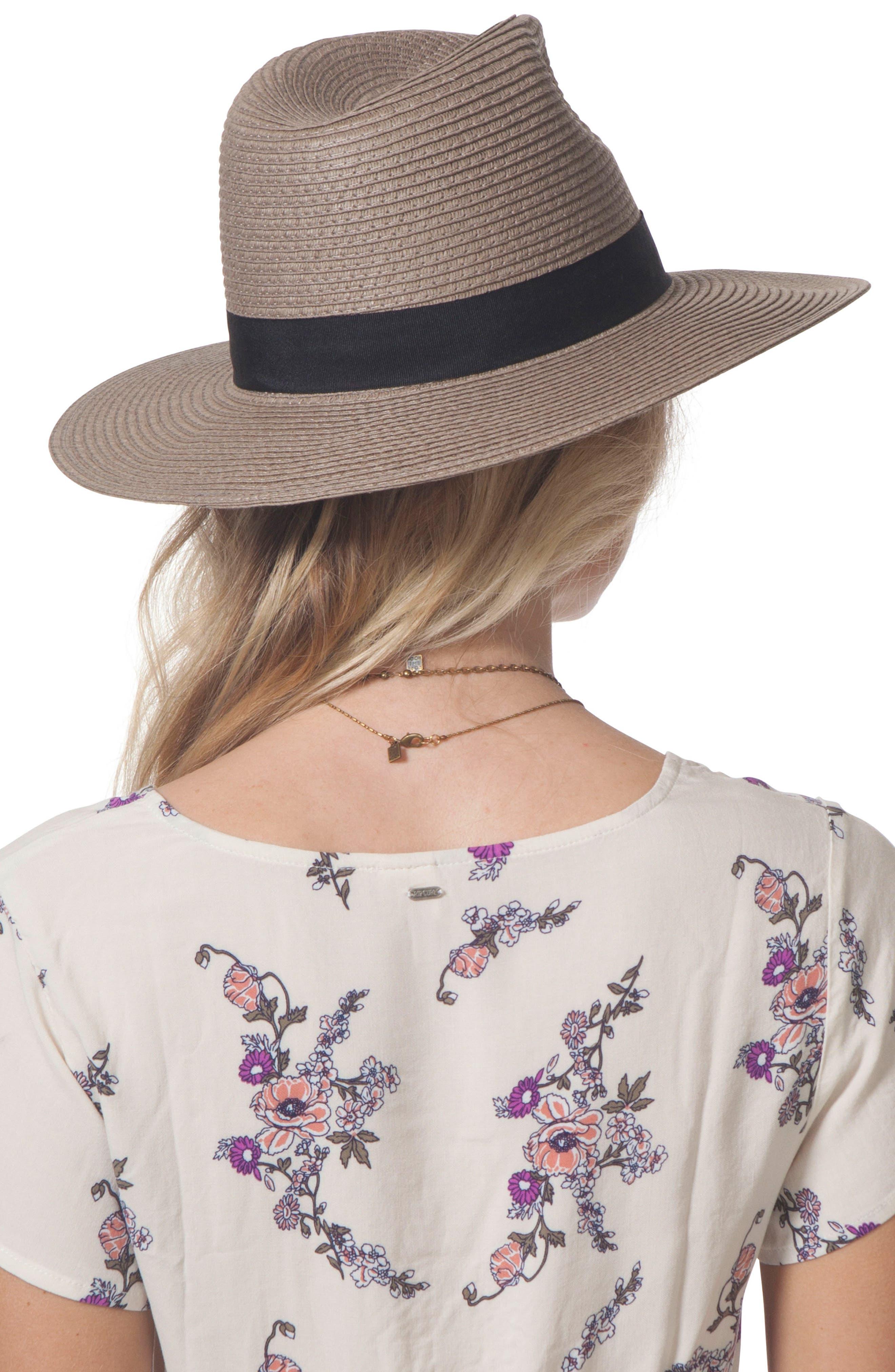 Dakota Panama Hat,                             Alternate thumbnail 2, color,                             Fossil