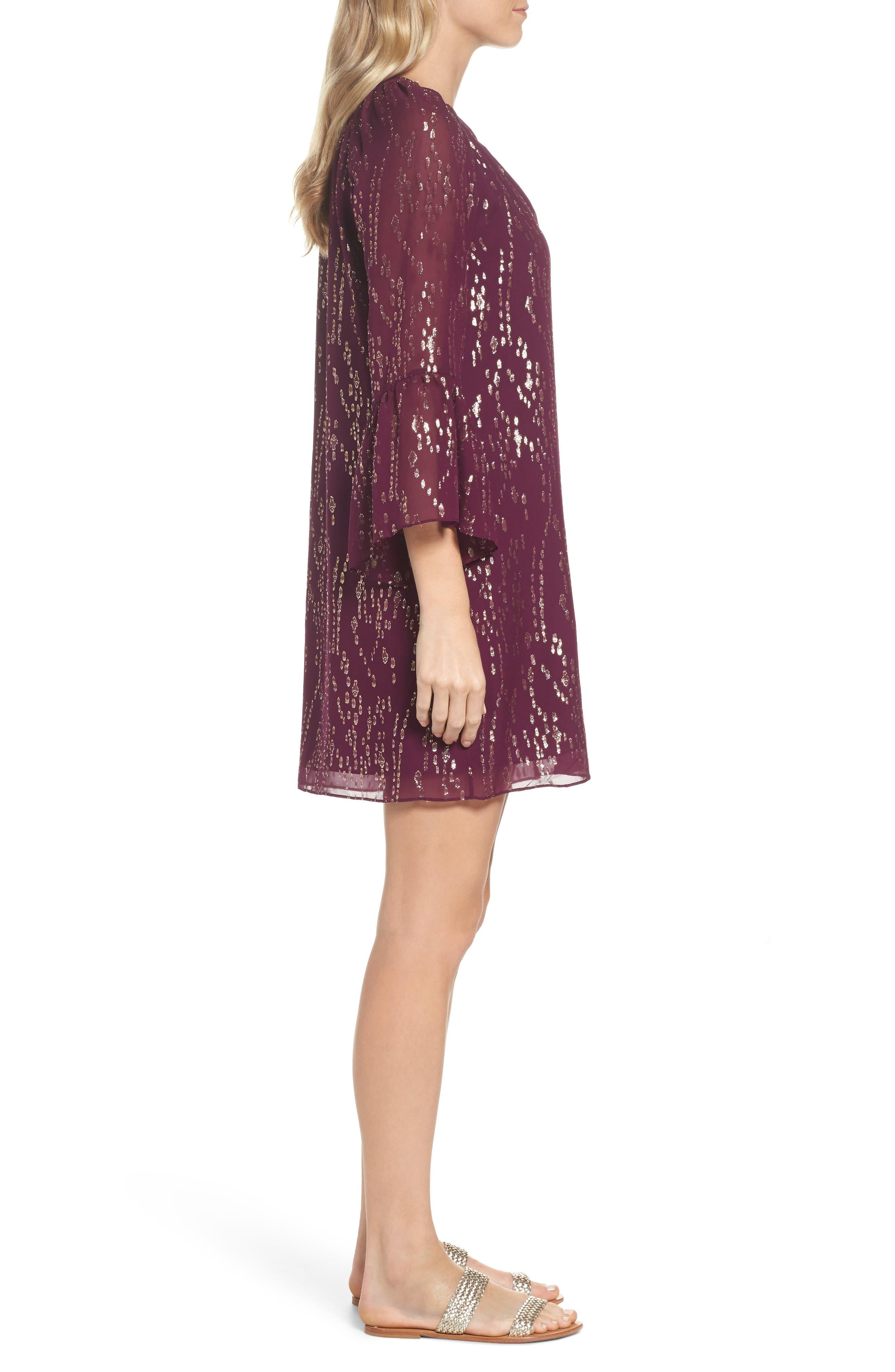 Matilda Tunic Dress,                             Alternate thumbnail 3, color,                             Shiraz